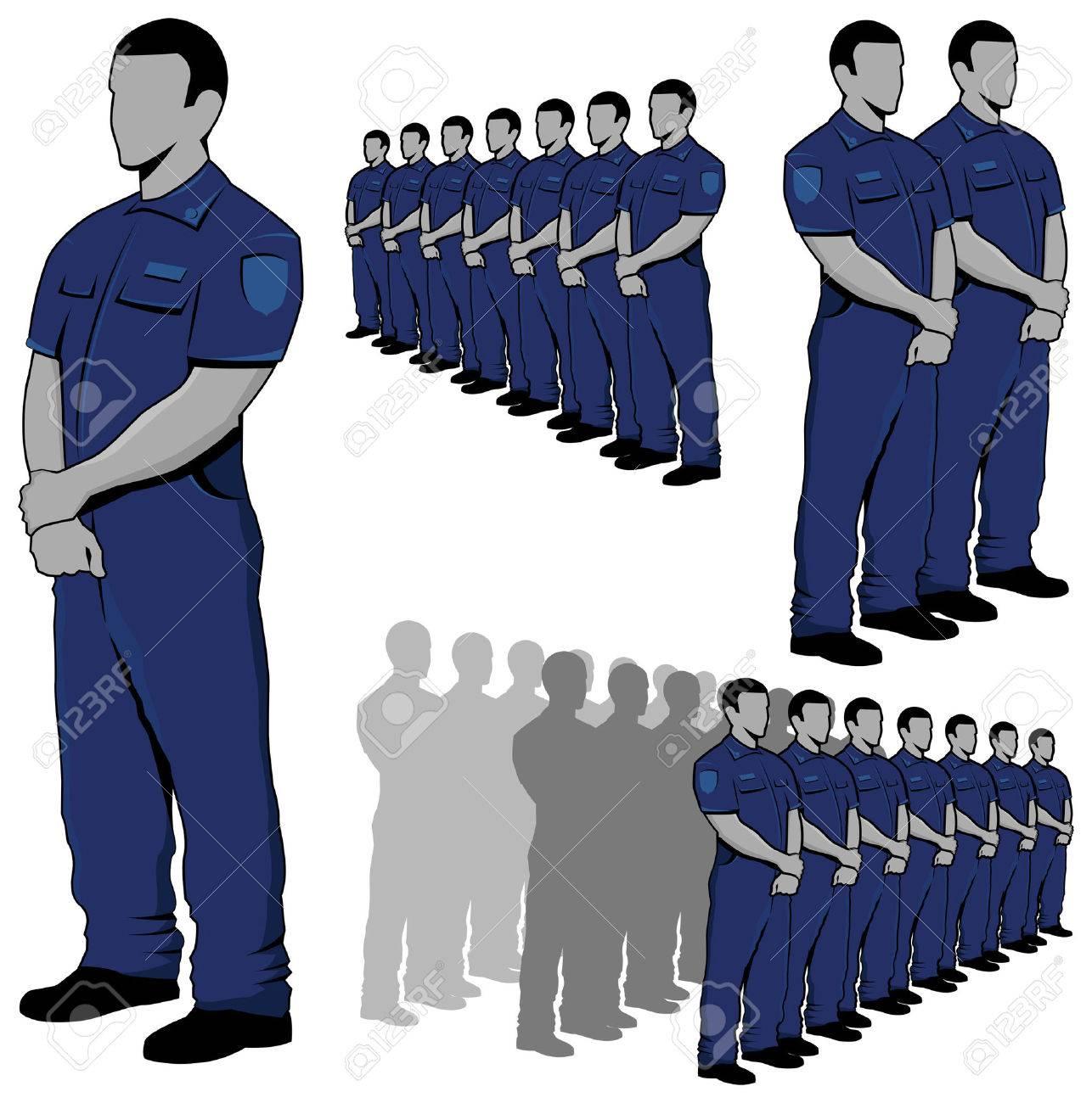 Police - security guard vector set Stock Vector - 22406253