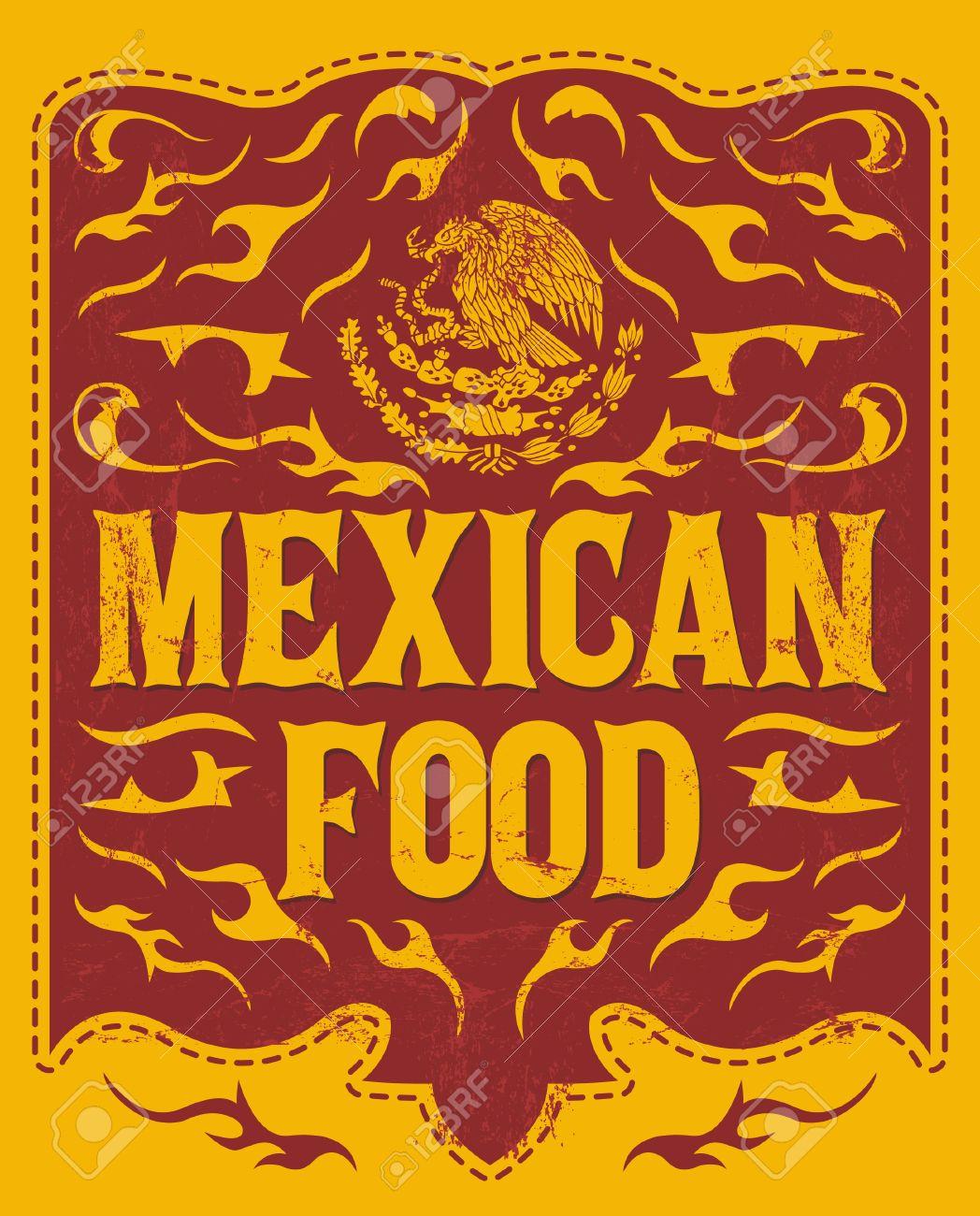 mexican food vintage restaurant menu design western style