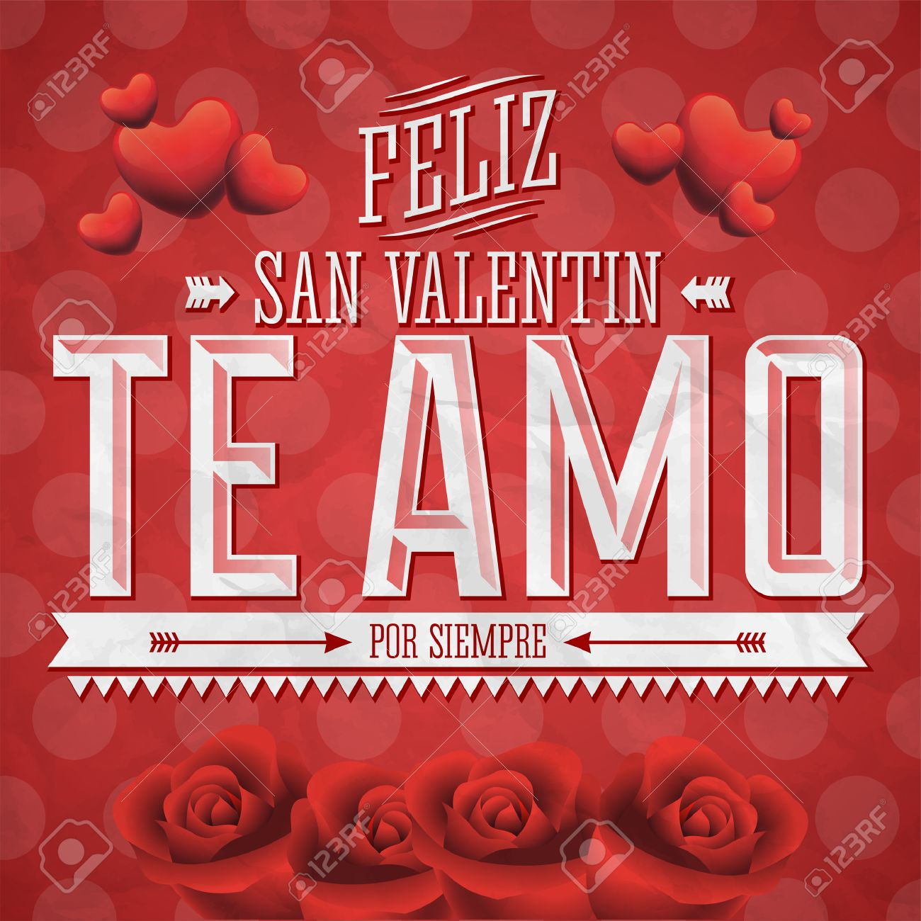 Te Amo Feliz San Valentin I Love You Happy Valentines Day – Saint Valentine Card