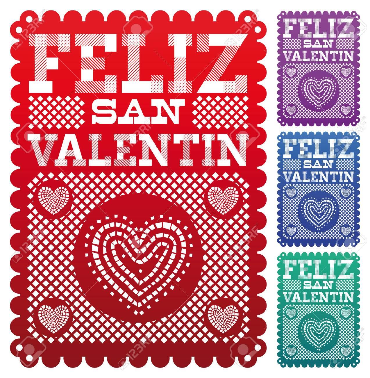 San Valentin Decoration Feliz San Valentin Happy Valentines Day Spanish Text Latin