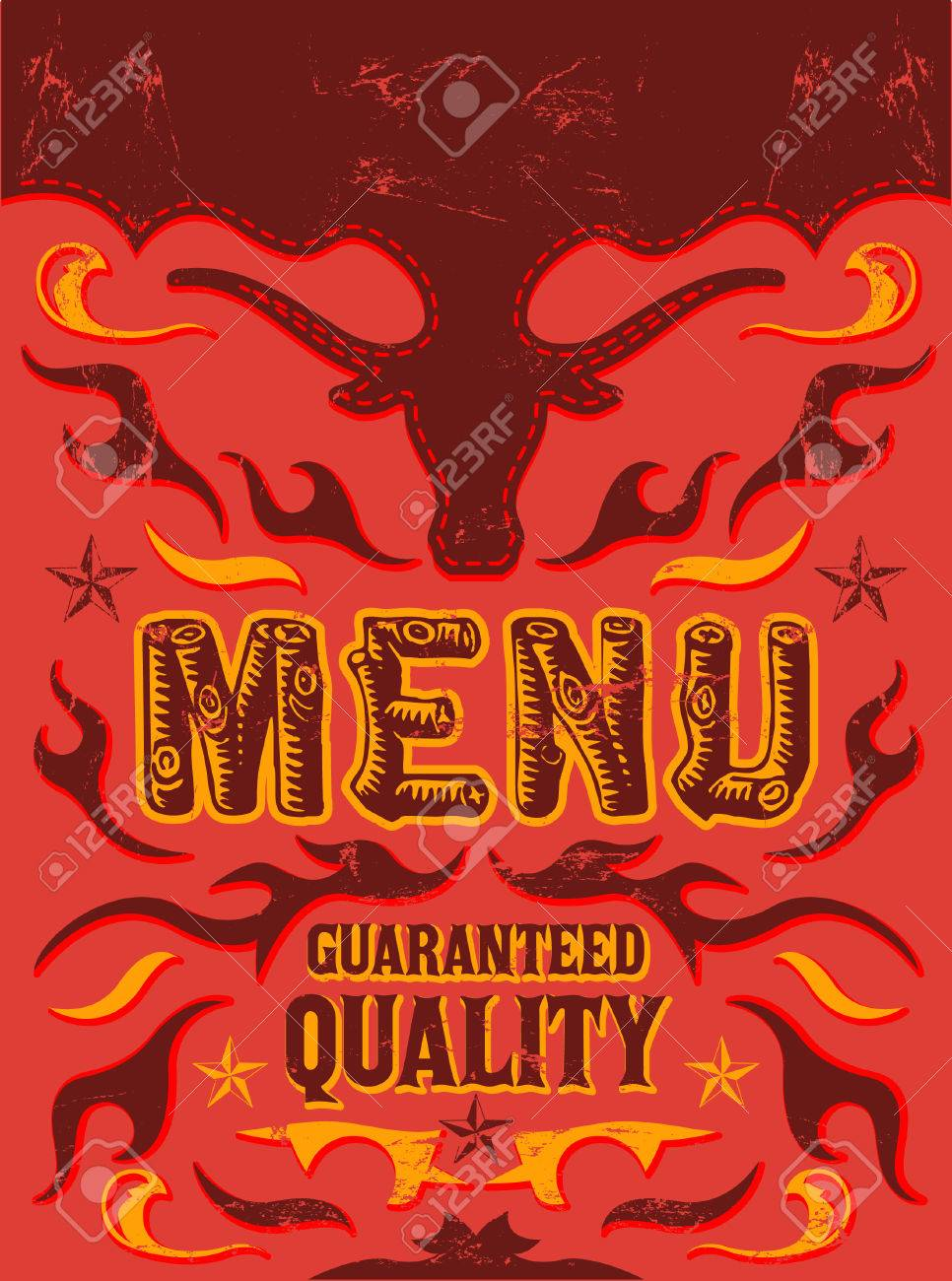 Vector Grill Steak Restaurant Menu Design Spicy Food Royalty Free Cliparts Vectors And Stock Illustration Image 27325121