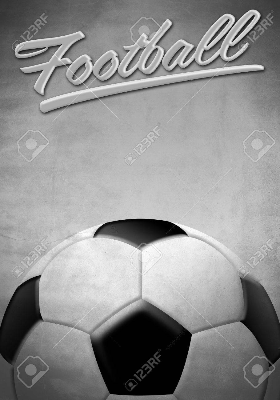 Football Vintage Background Texture Poster Card Soccer Ball