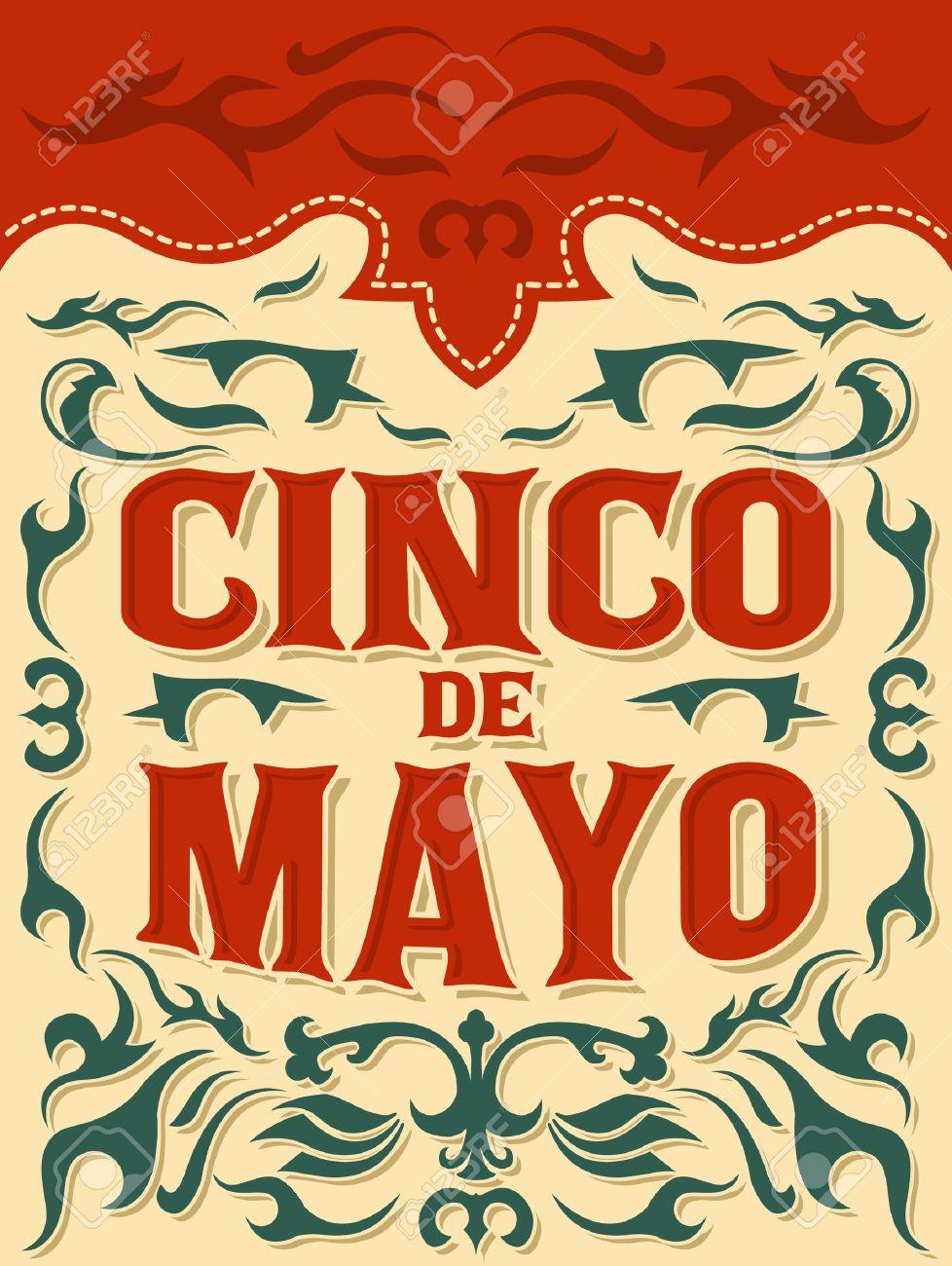 cinco de o traditional mexican holiday vector poster cinco de o traditional mexican holiday vector poster card template stock vector