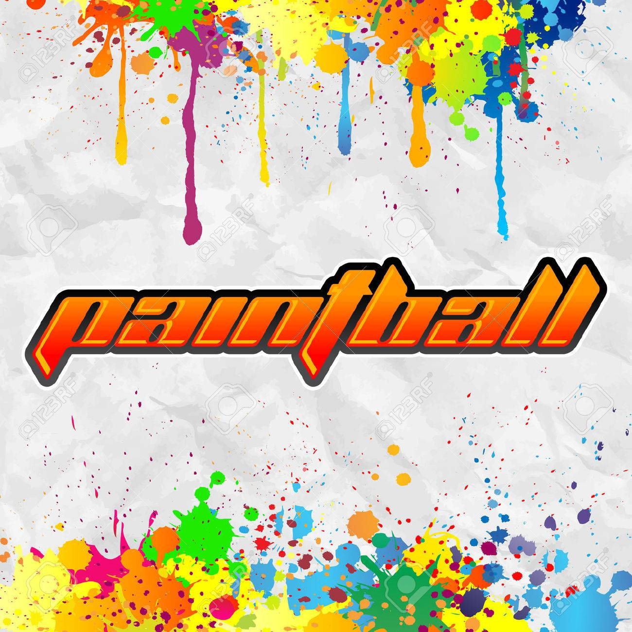 Paintball lettering - colorful banner - 28457794