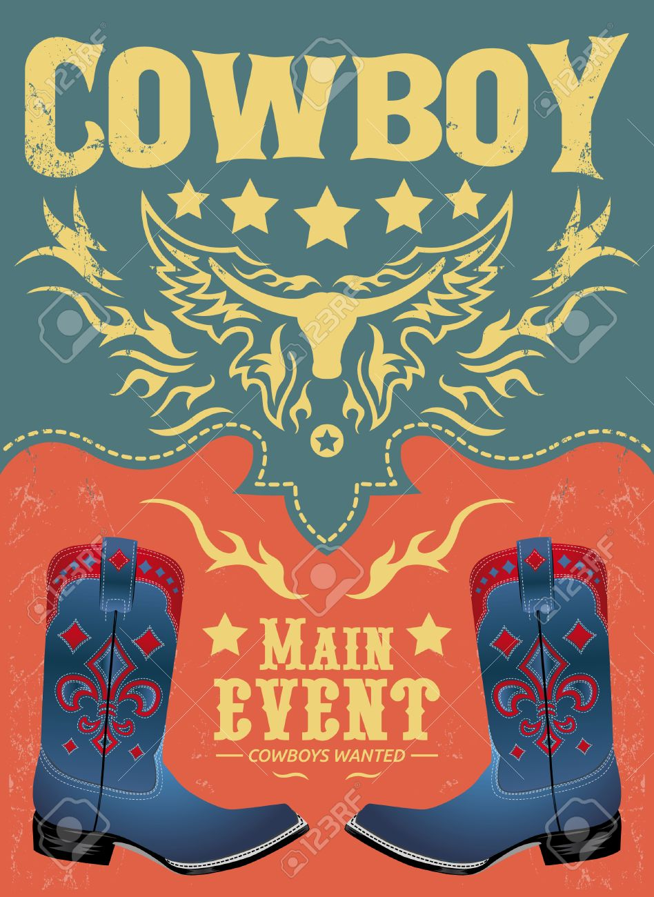 cowboy invitation template