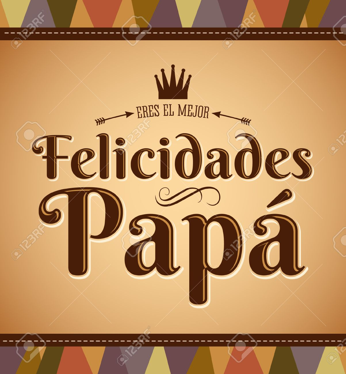 Felicidades Papa - Felicidades Papá - Español Texto - Vector De La ...