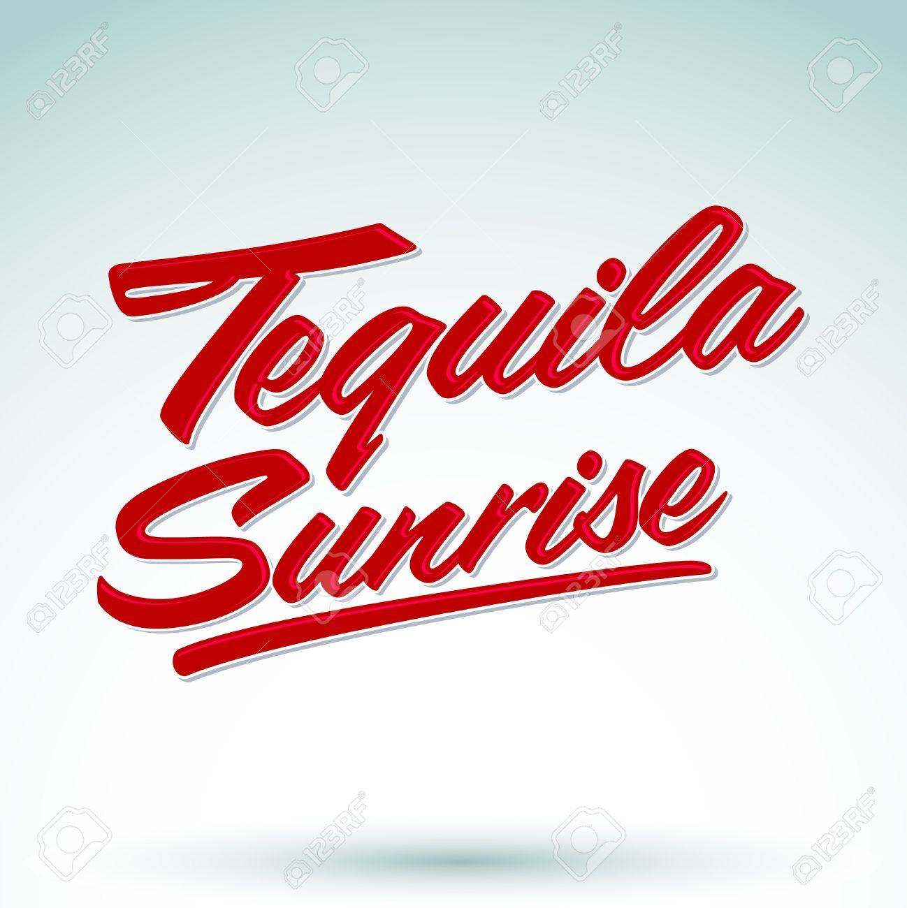 tequila sunrise vector sign lettering mexican drink icon rh 123rf com Beach Clip Art Beach Clip Art