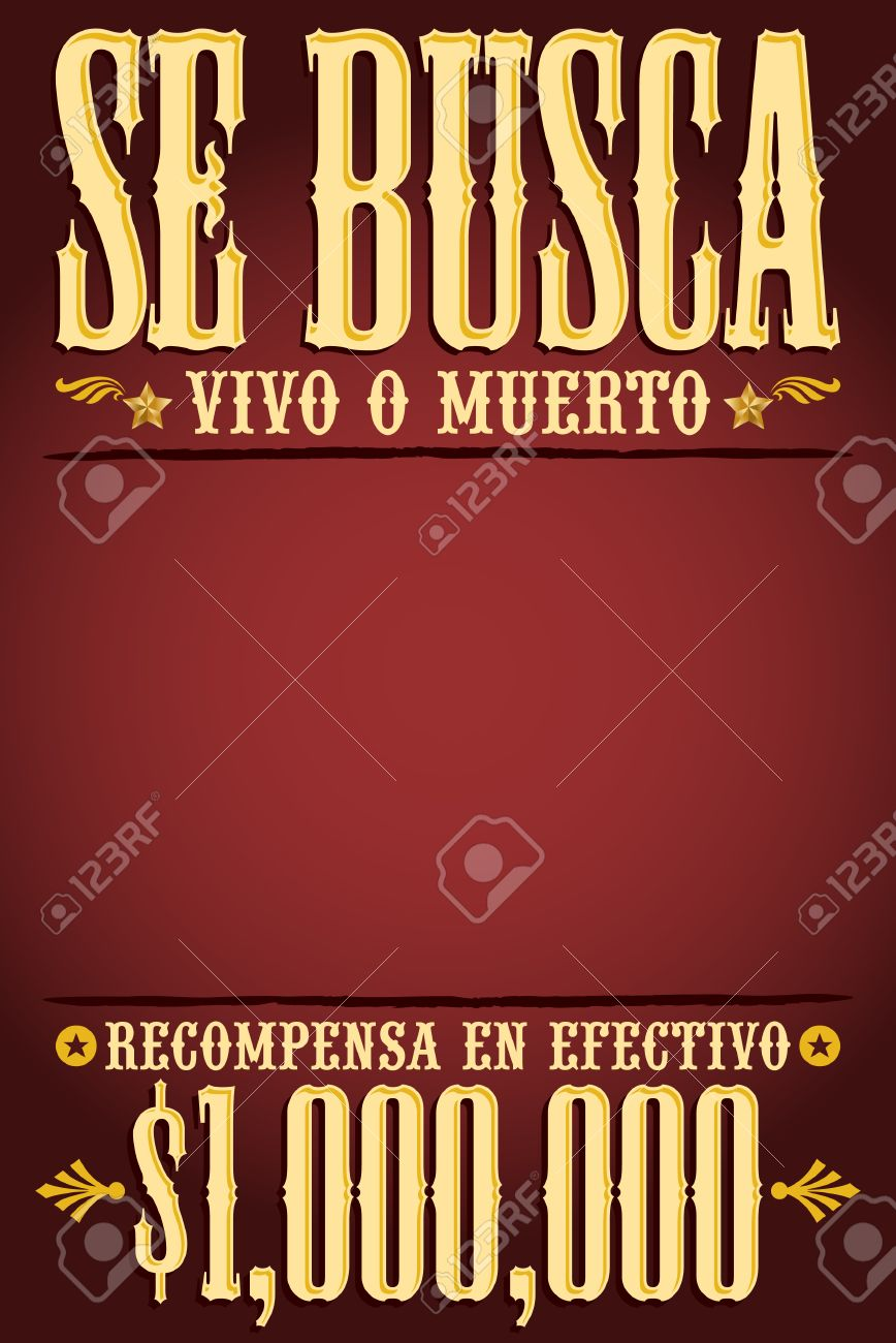Se Busca El Texto Vivo O Muerto, Vivo O Muerto Plantilla Cartel ...