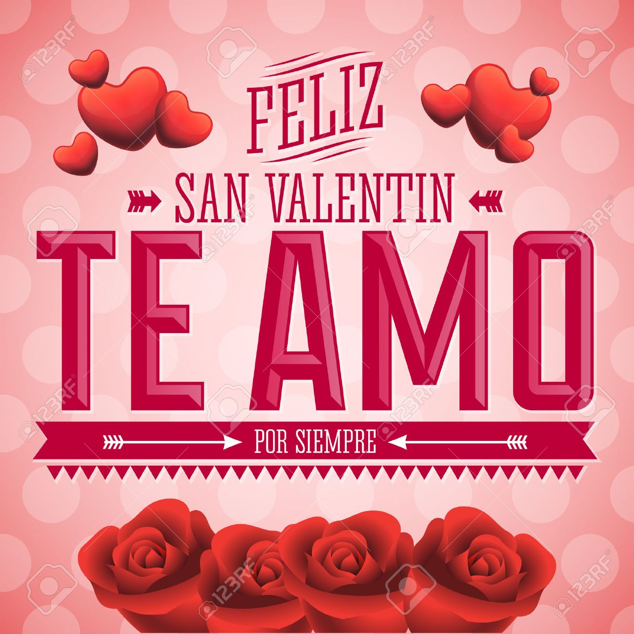 Te Amo Feliz San Valentin I Love You Happy Valentines Day Spanish
