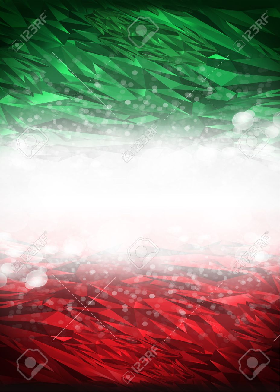 Red and green background ready for your text, Modern Mexico - Italy background - flag colors - 39231971