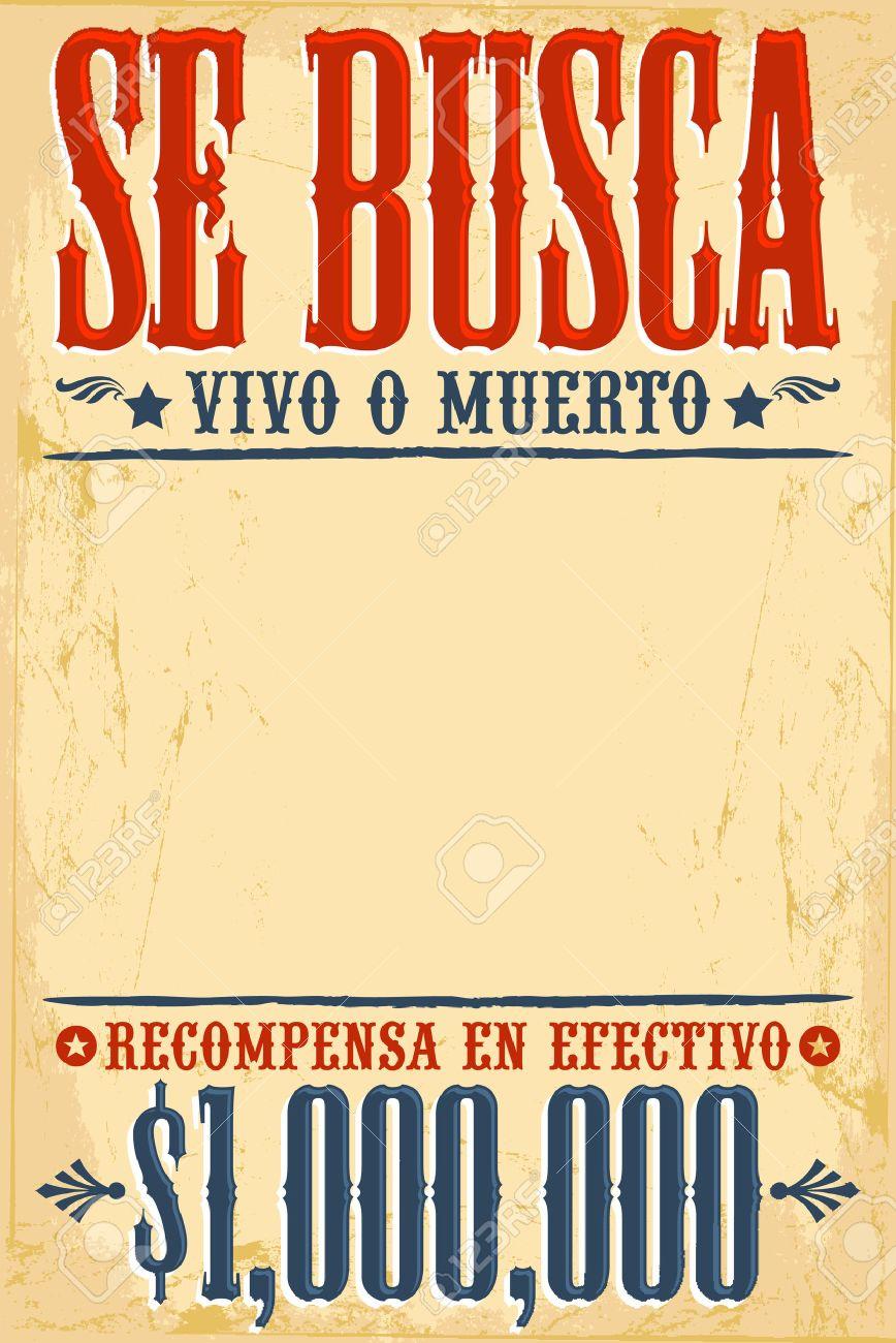 Se Busca Vivo O Muerto Gewünschte Tote Oder Lebendig Poster Spanish