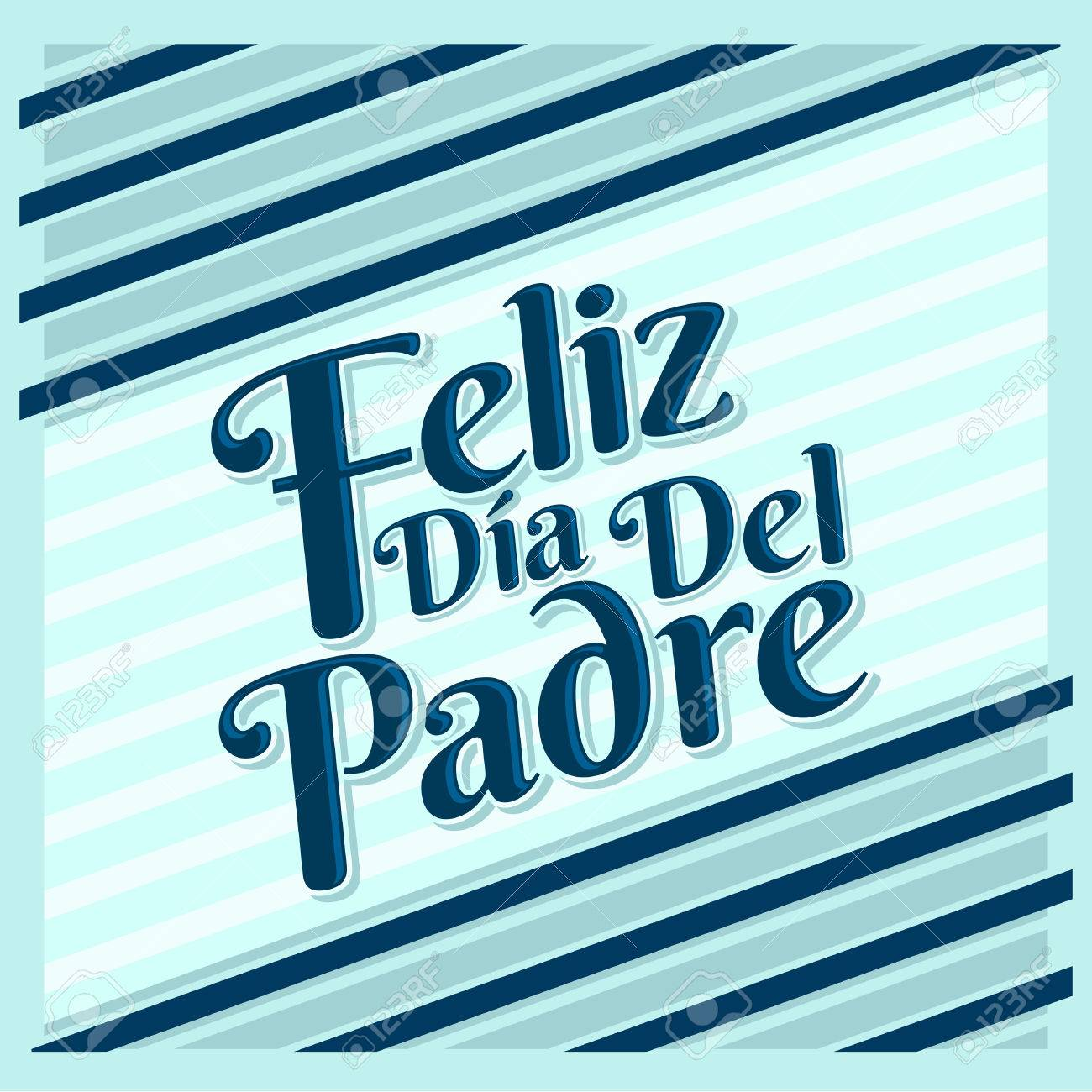 feliz dia de padre happy fathers day spanish text vector card