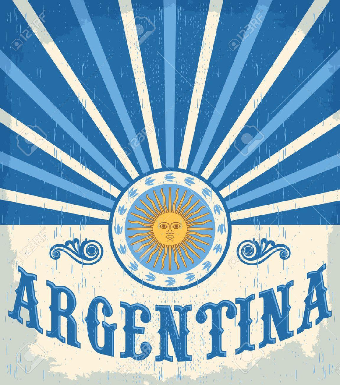 色国旗アルゼンチン