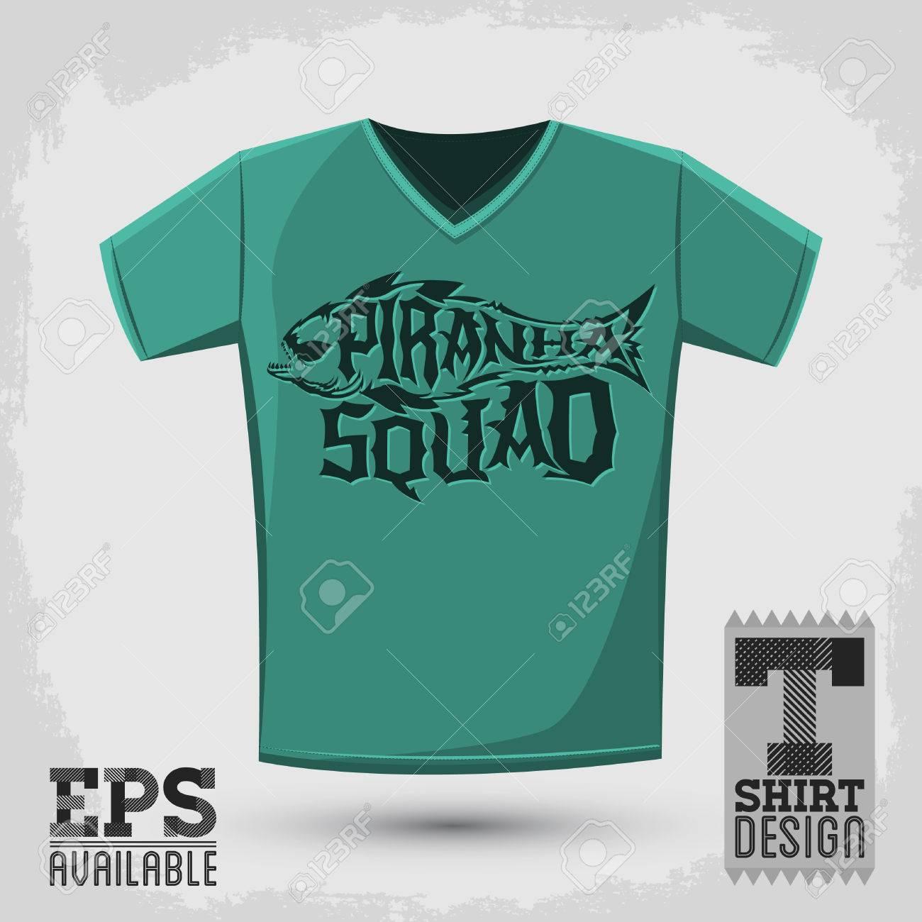 nouveau authentique spécial chaussure usa pas cher vente Piranha Squad - vecteur emblème t-shirt modèle d'impression, vecteur  sérigraphie conception de lettrage