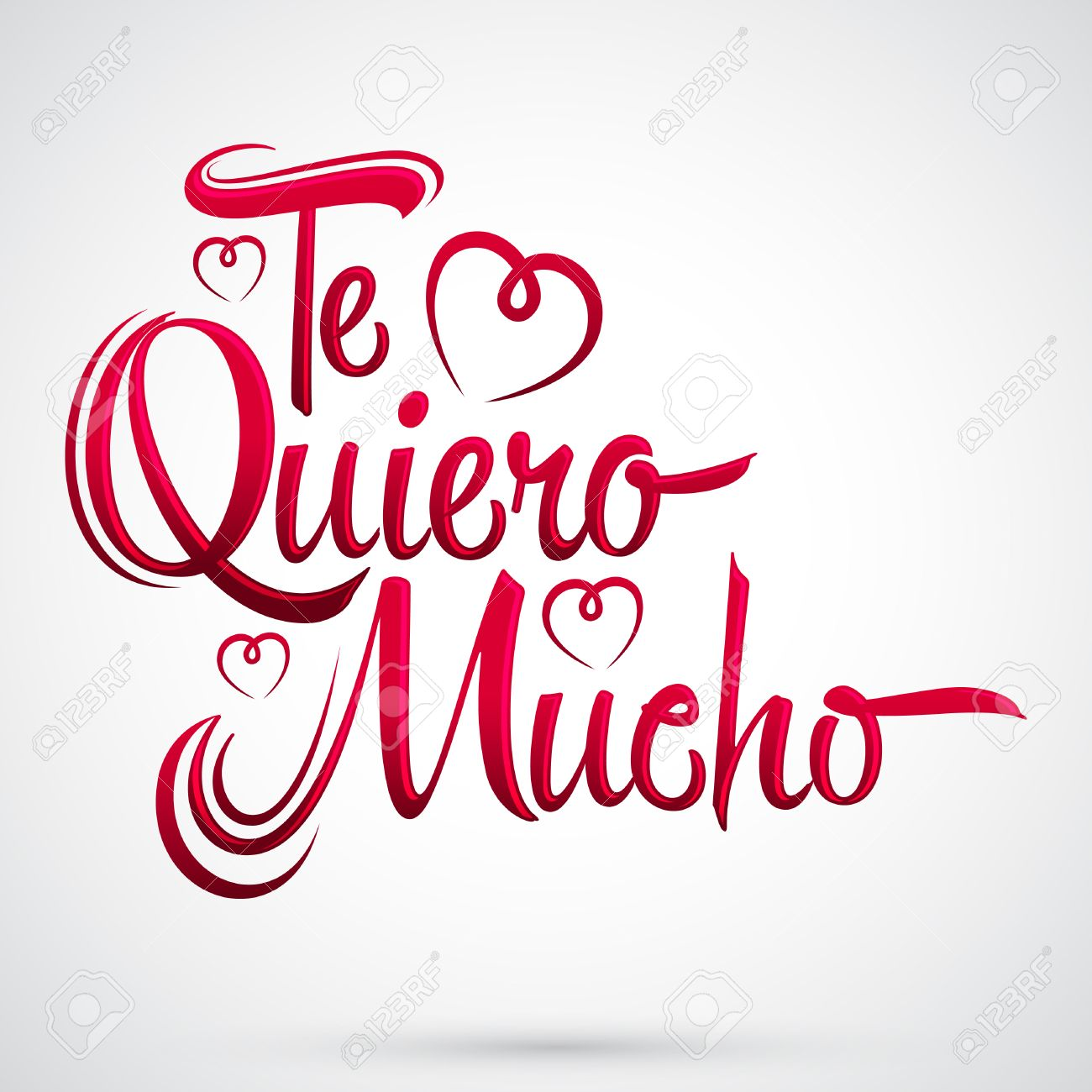 Te Quiero Mucho - I love you so much spanish text, vector lettering design - 52505762