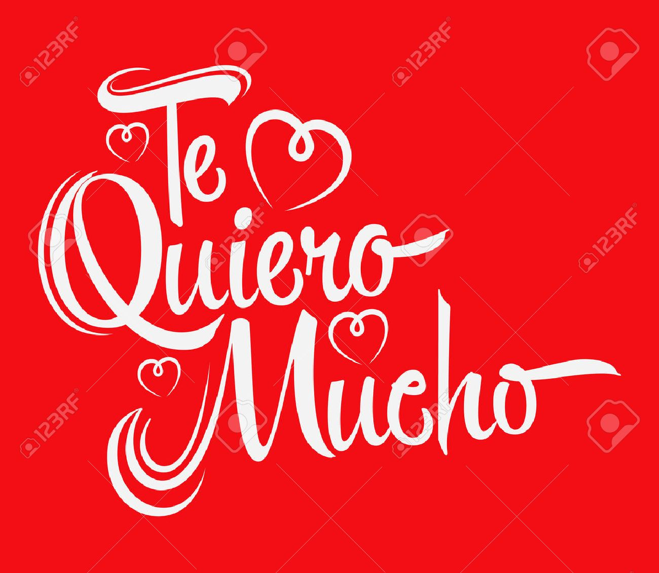 Te Quiero Mucho I Love You So Much Spanish Text Vector Lettering
