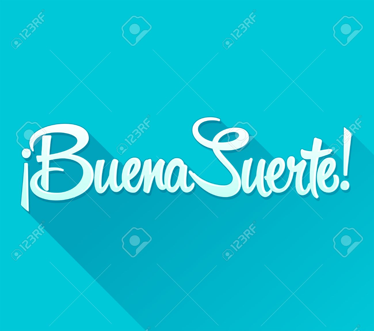 Buena Suerte Good Luck Spanish Text Quote Typography Vector