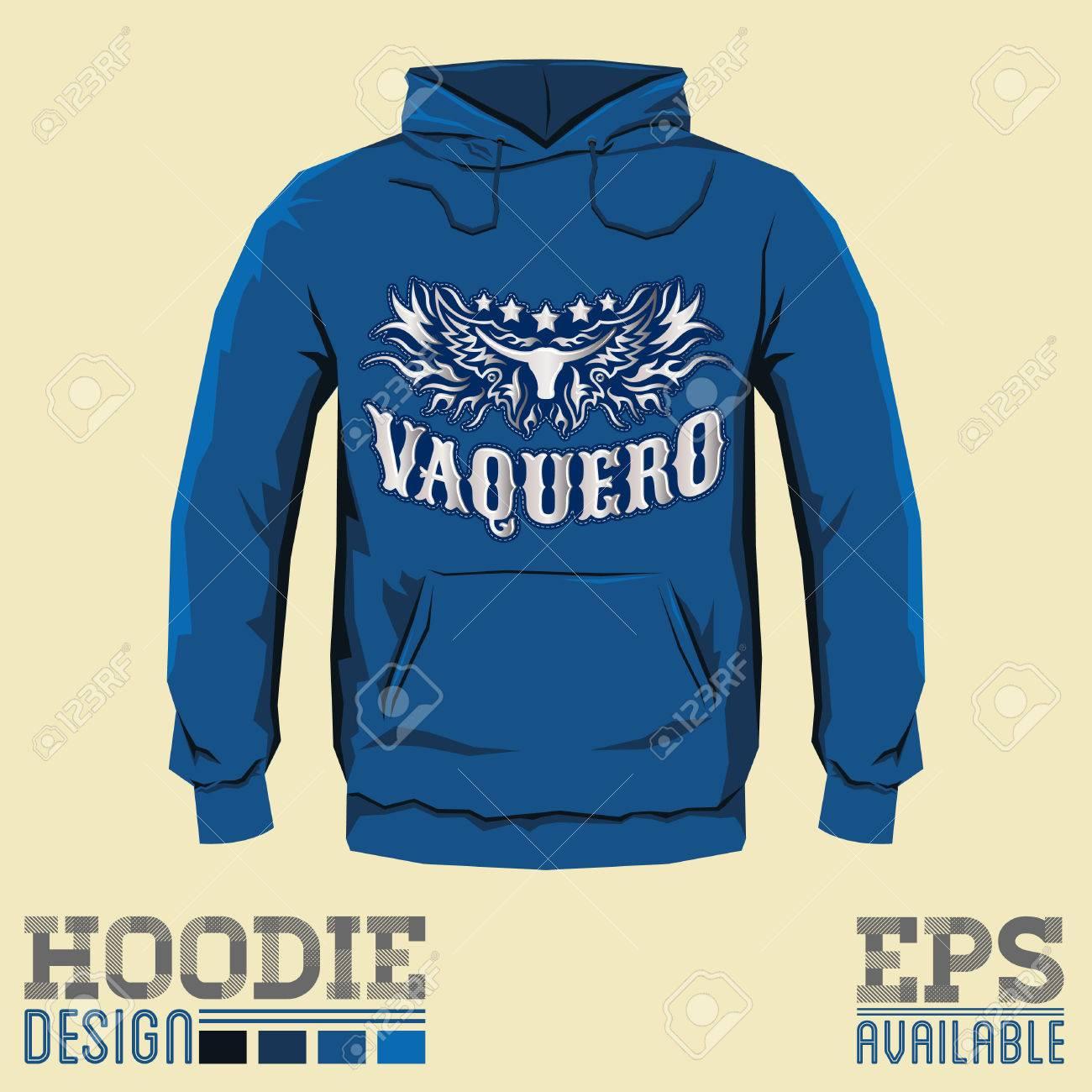Vaquero, Cowboy Spanische Übersetzung, Vector Hoodie Druck Design ...