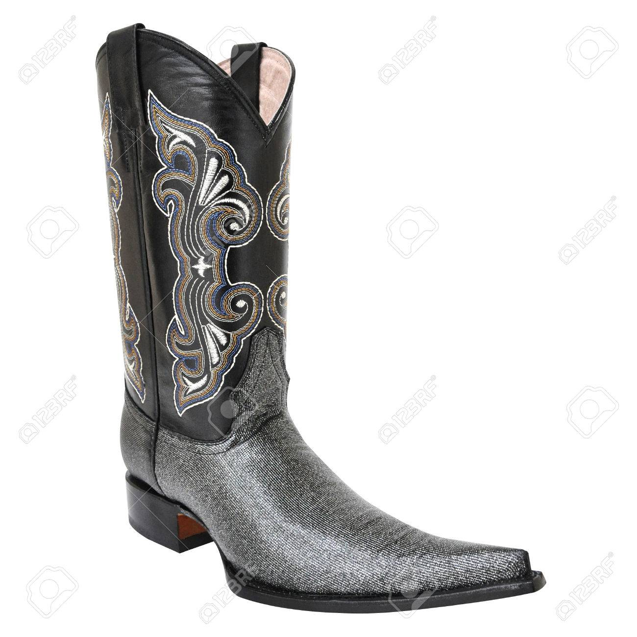 fd700ec0a1c Pointy cowboy boot isolated on white background