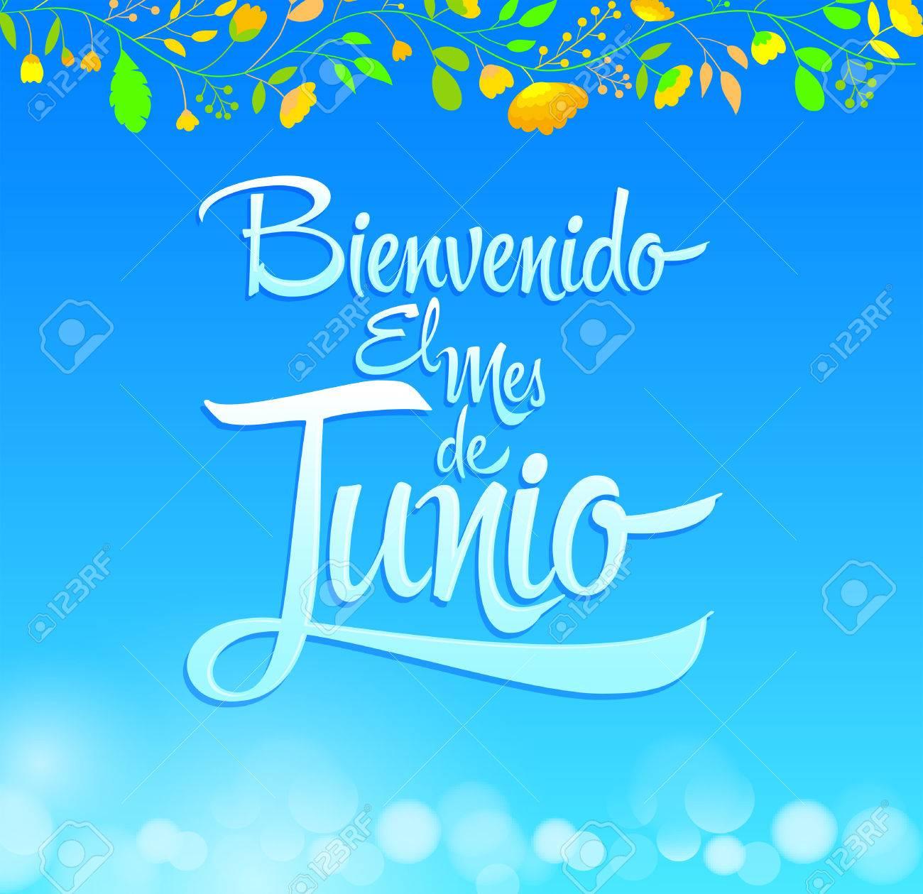ようこそエル mes de junio ようこそ 6 月スペイン語のテキスト