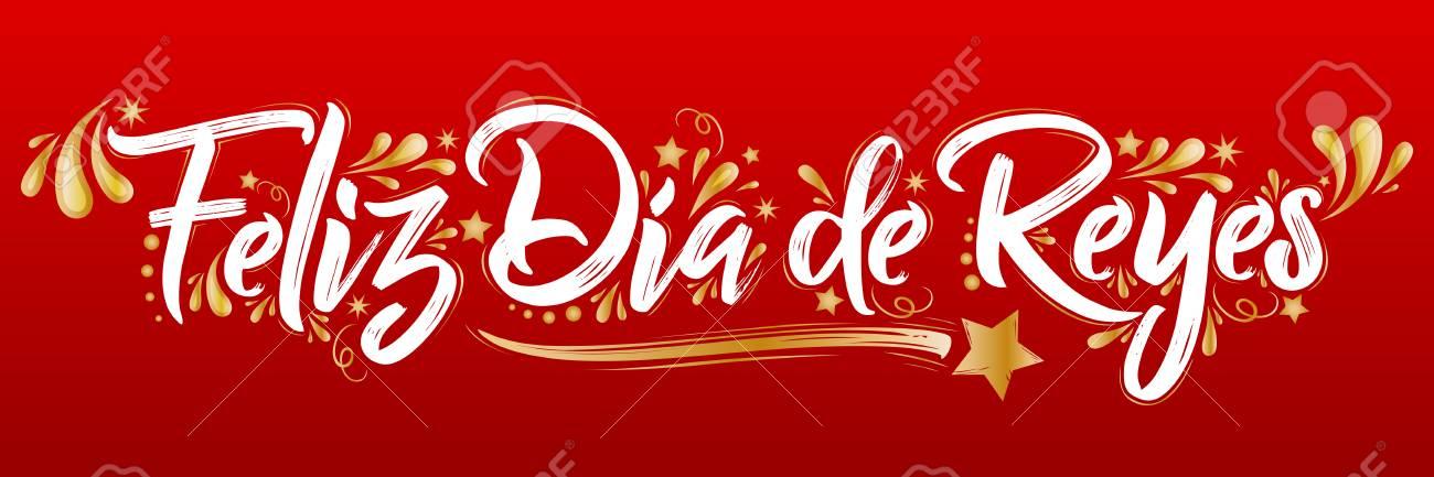 Feliz Dia De Reyes Fotos.Feliz Dia De Reyes Sticker Spanish Text Sale Tag Vector Illustration