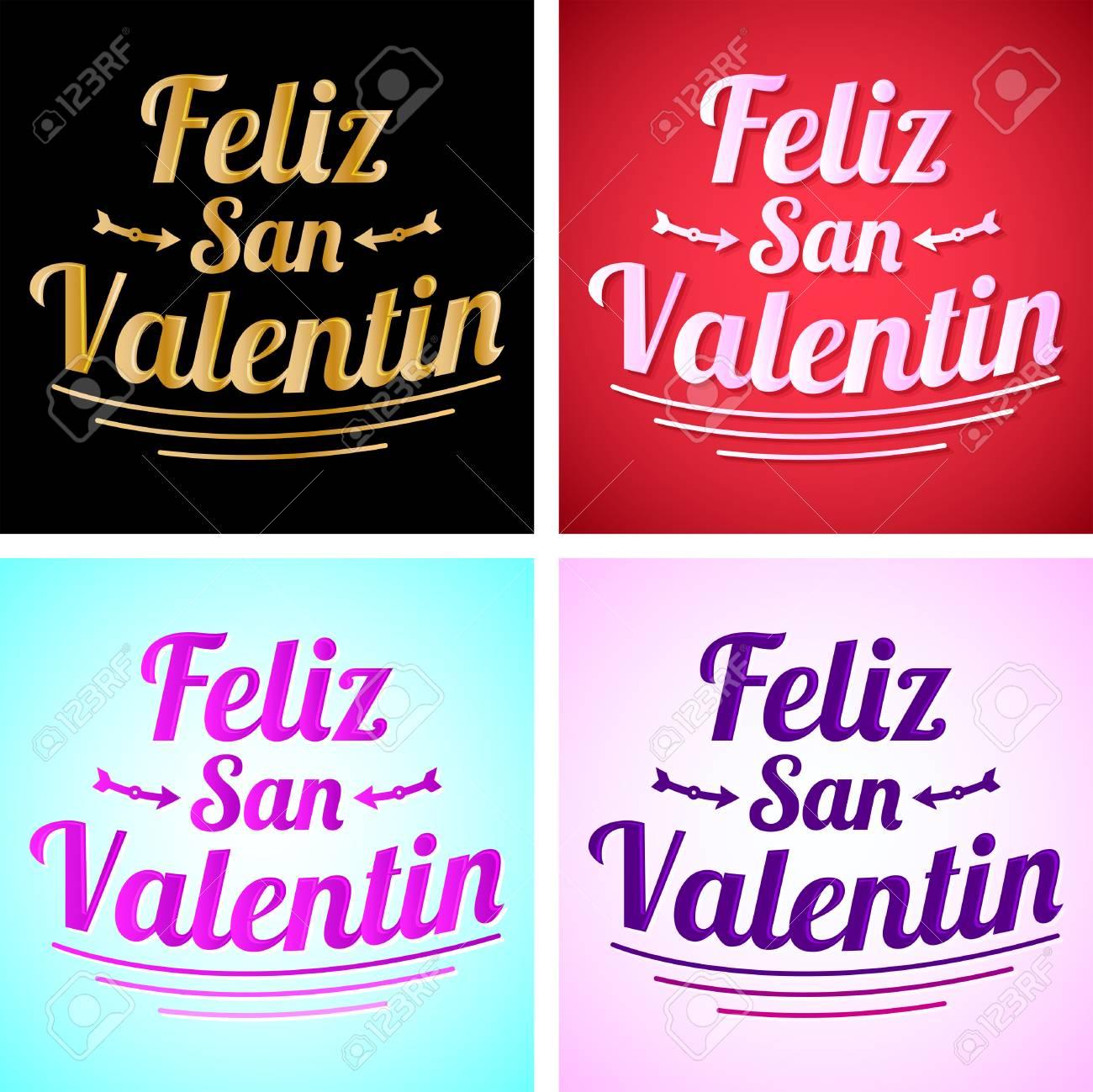 Feliz San Valentin Happy Valentines Day In Spanish Language