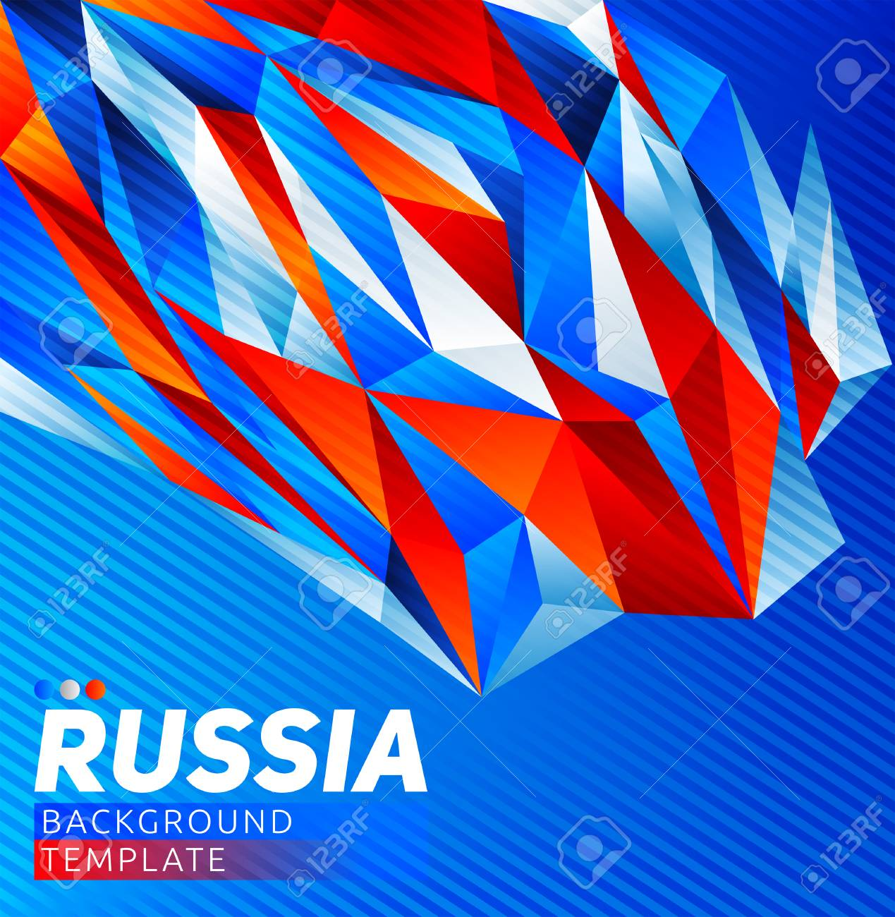 Russia Theme Vector Modern Background Template Russian Flag