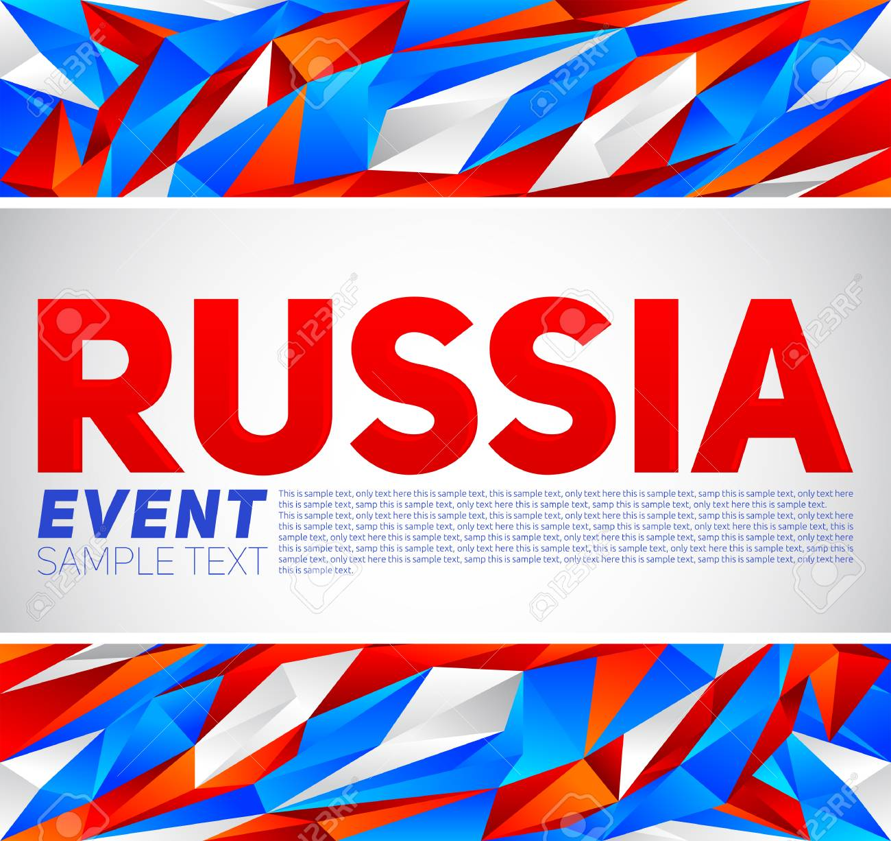 Russia Event Banner Template Vector Modern Design Russian Flag