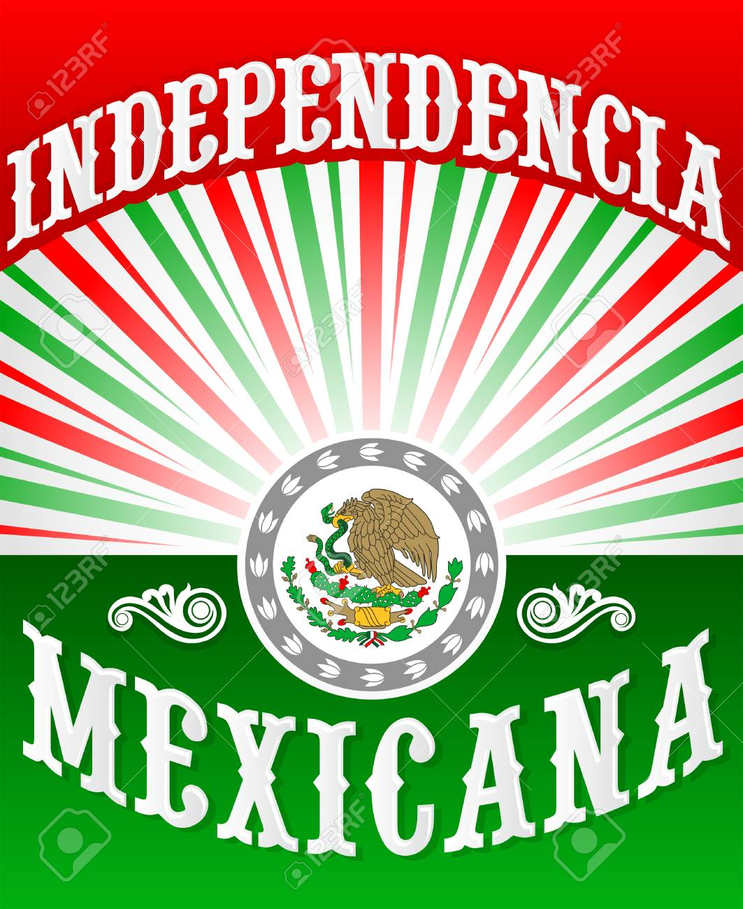 Independencia Mexicana Mexican Independence Spanish Text Poster