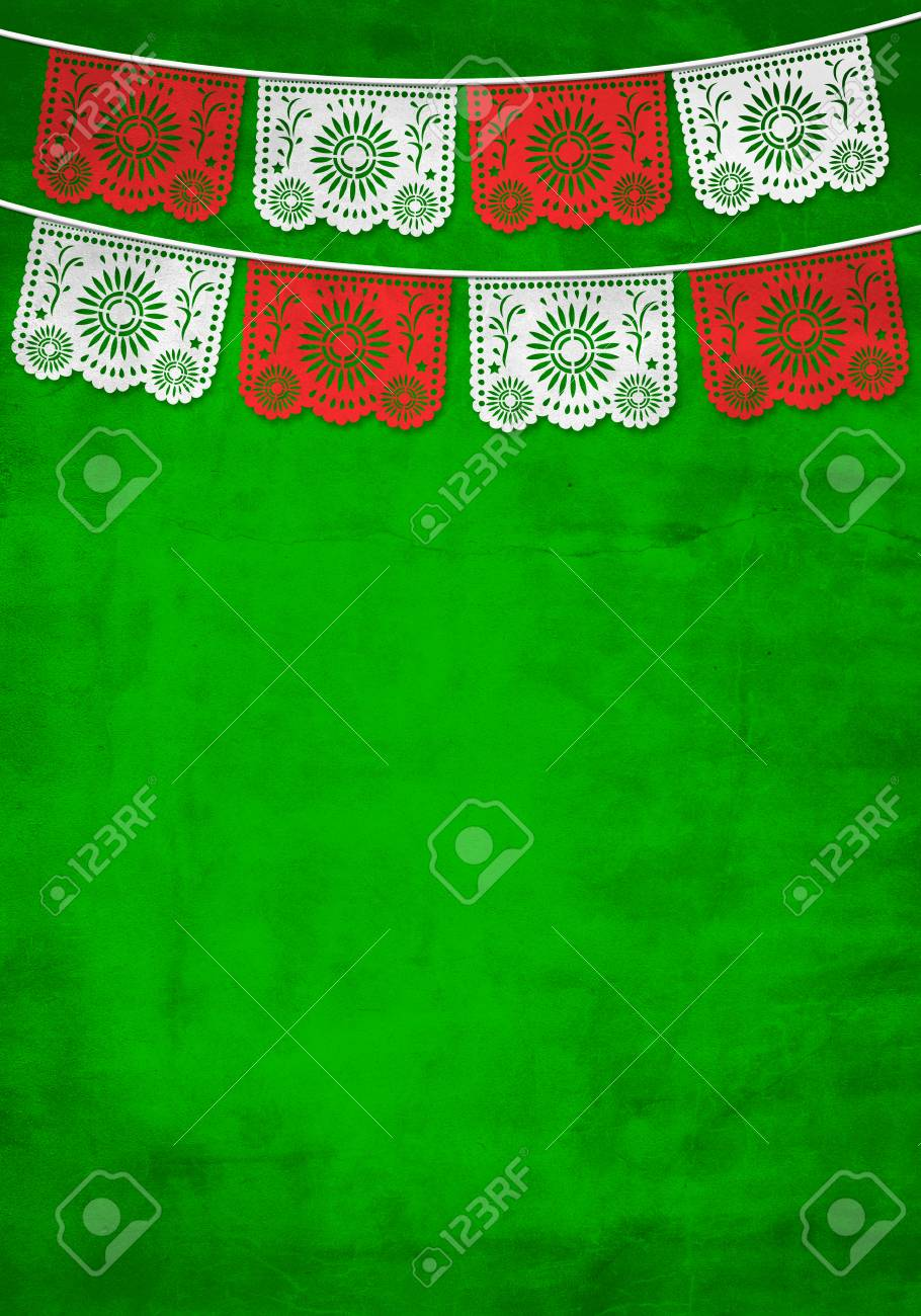 Traditional Mexican paper decoration background with old paper texture - 106928430