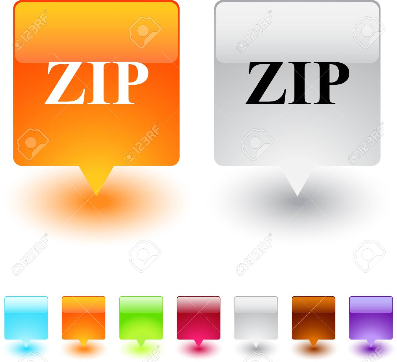 Green home glossy square web buttons. Stock Vector - 7138538