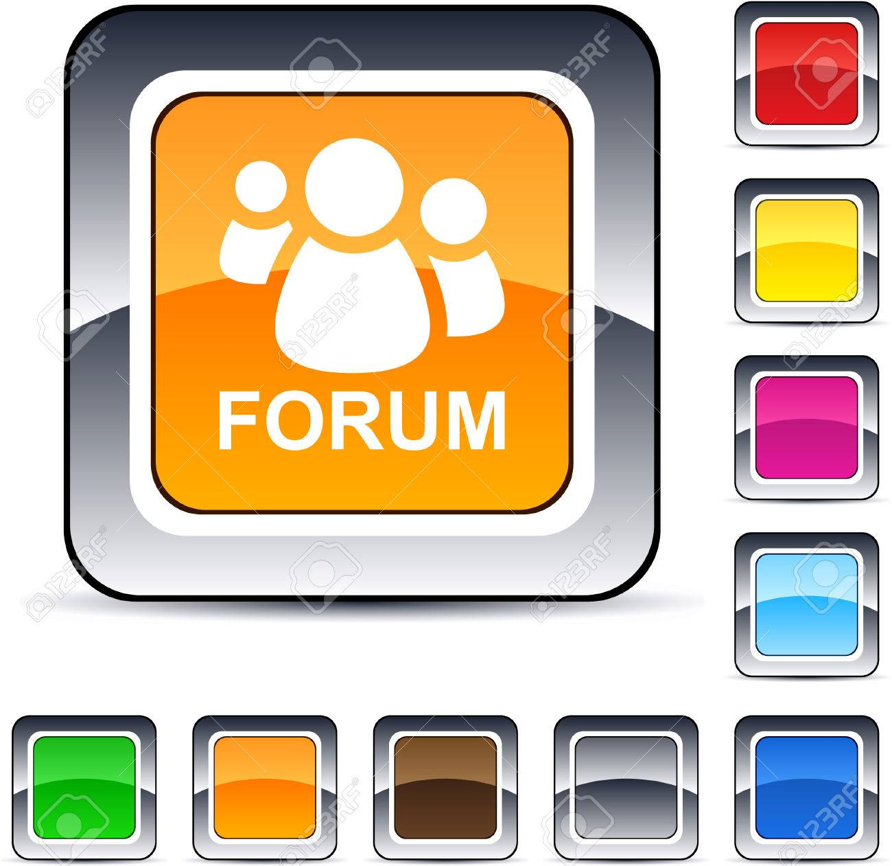 Forum glossy square web buttons. - 7198954