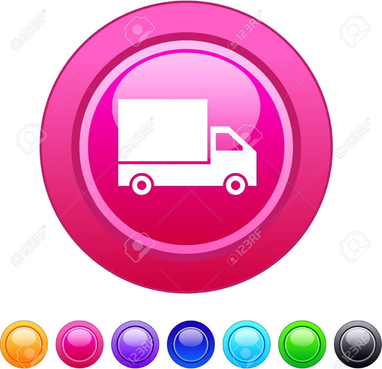 Delivery glossy circle web buttons. Stock Vector - 7375345