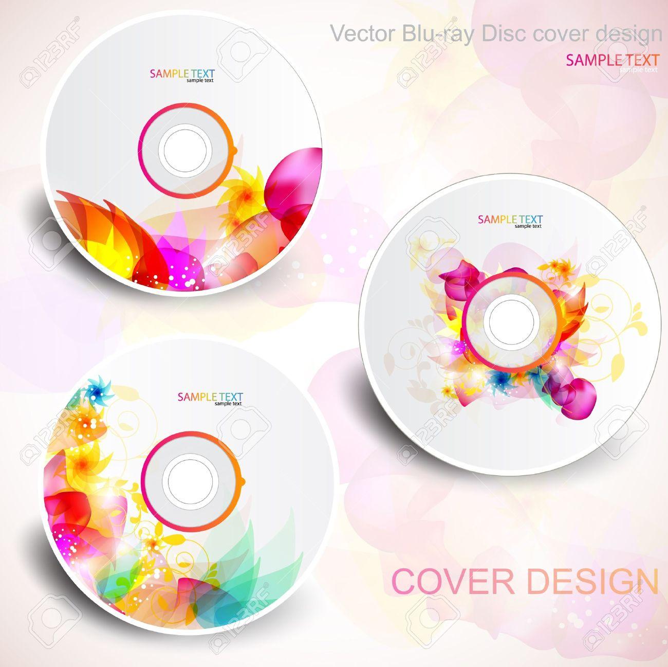 Diseño De Portada De CD De Vector. Plantillas Editables. Diseño ...