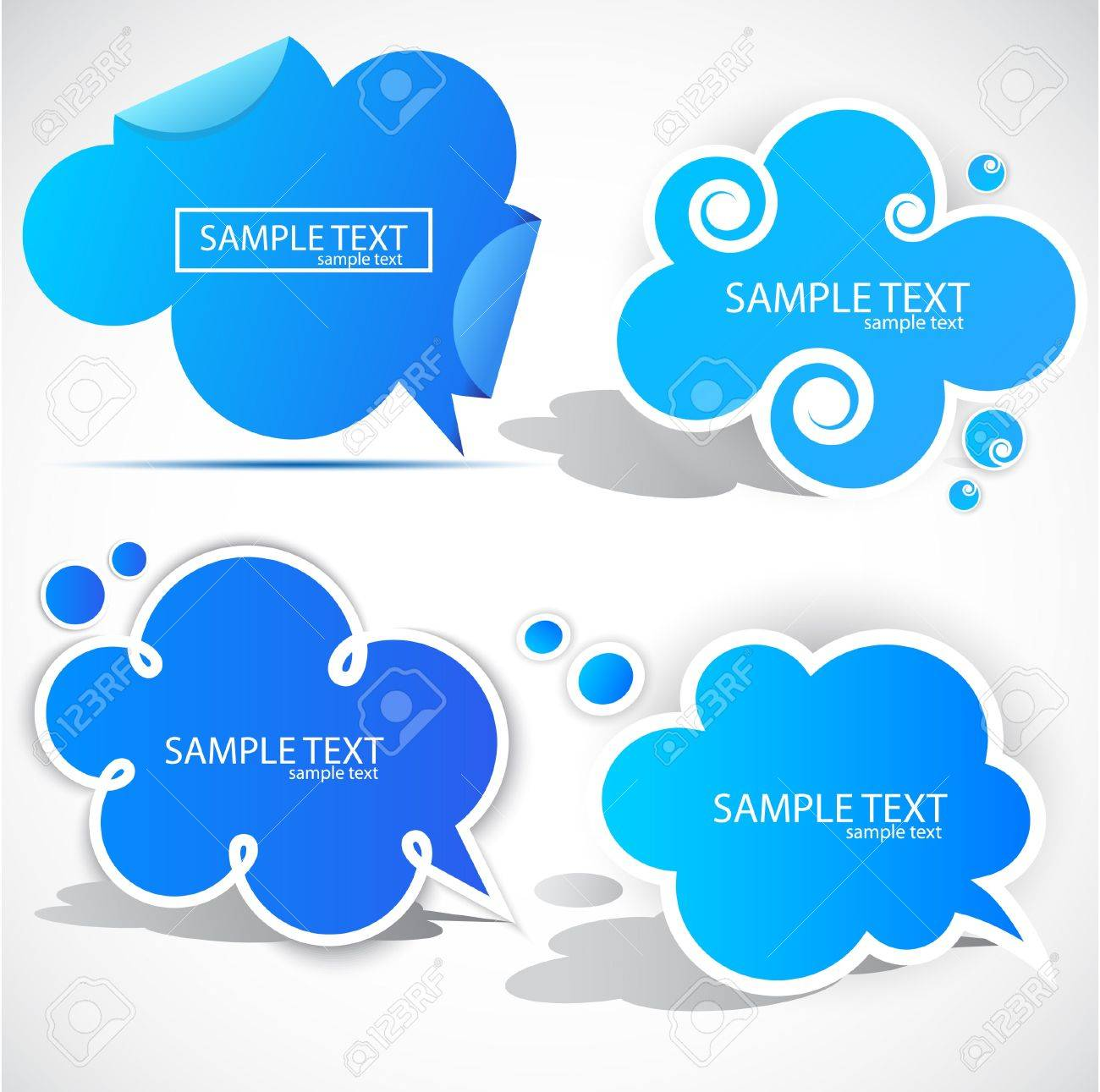 Paper cloud bubble for speech Stock Vector - 9612918