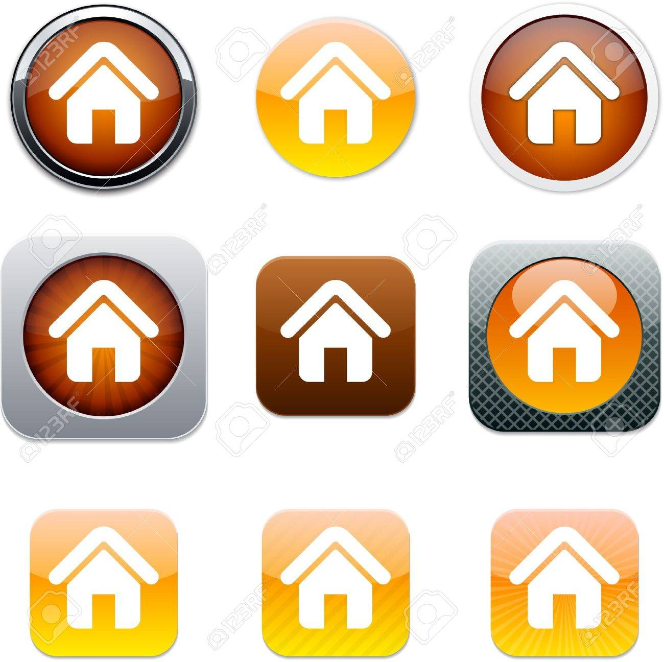 Home Set of apps icons. Vector illustration. Stock Vector - 9946212