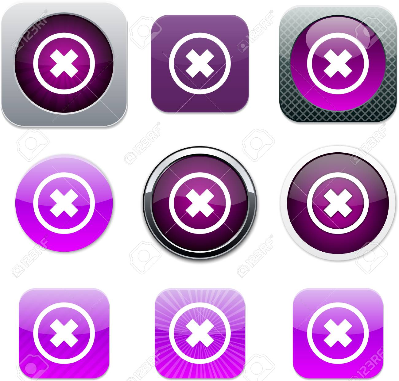 Set of apps icons. Vector illustration. Stock Vector - 9946202