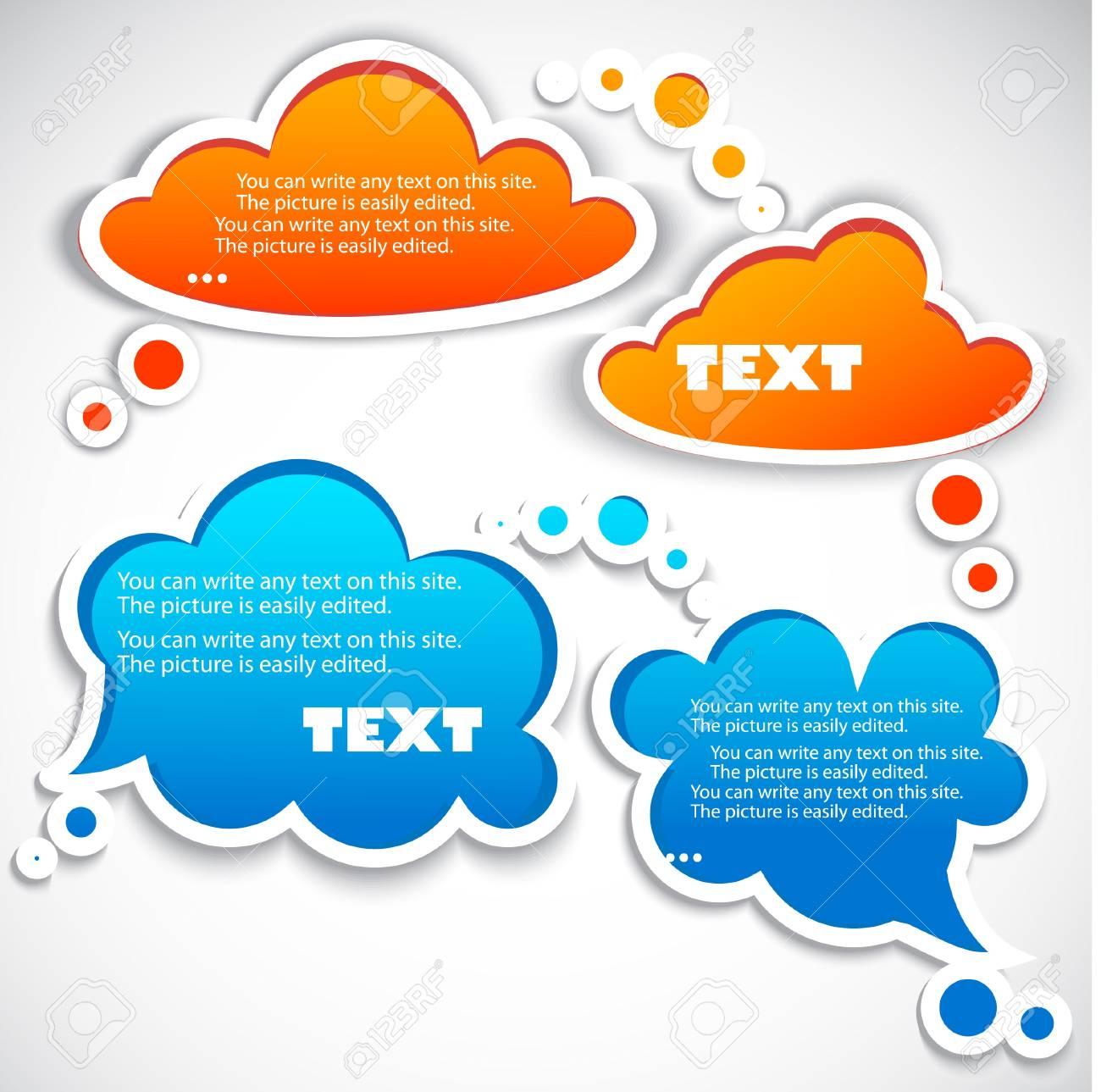 Paper speech bubble Stock Vector - 10179556