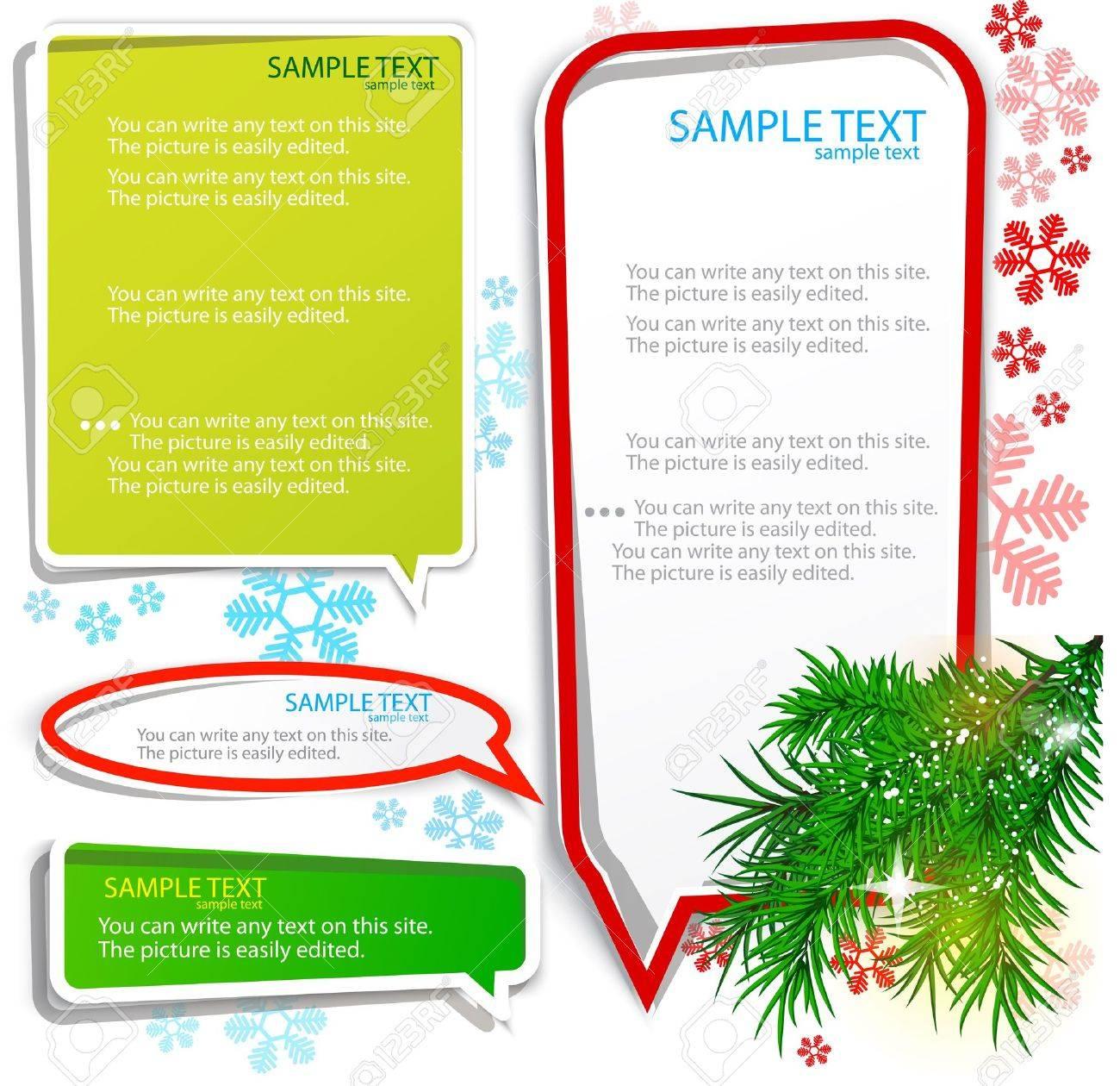 Christmas bubbles for speech Stock Vector - 10516496