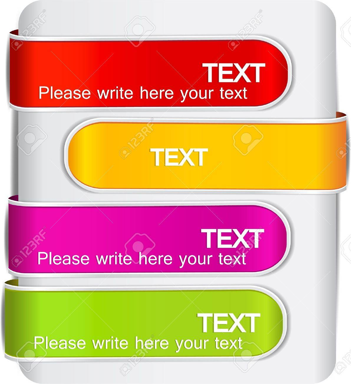 Colorful bookmarks for speech Stock Vector - 10731280