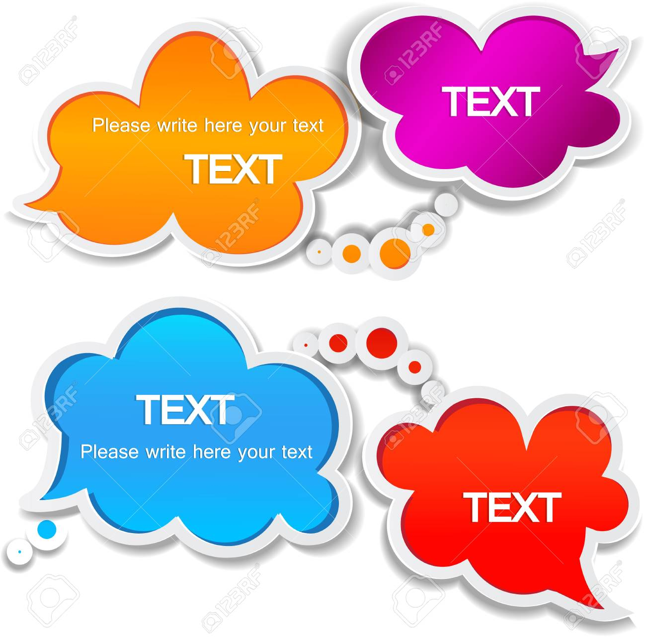 Paper speech bubble Stock Vector - 10755348