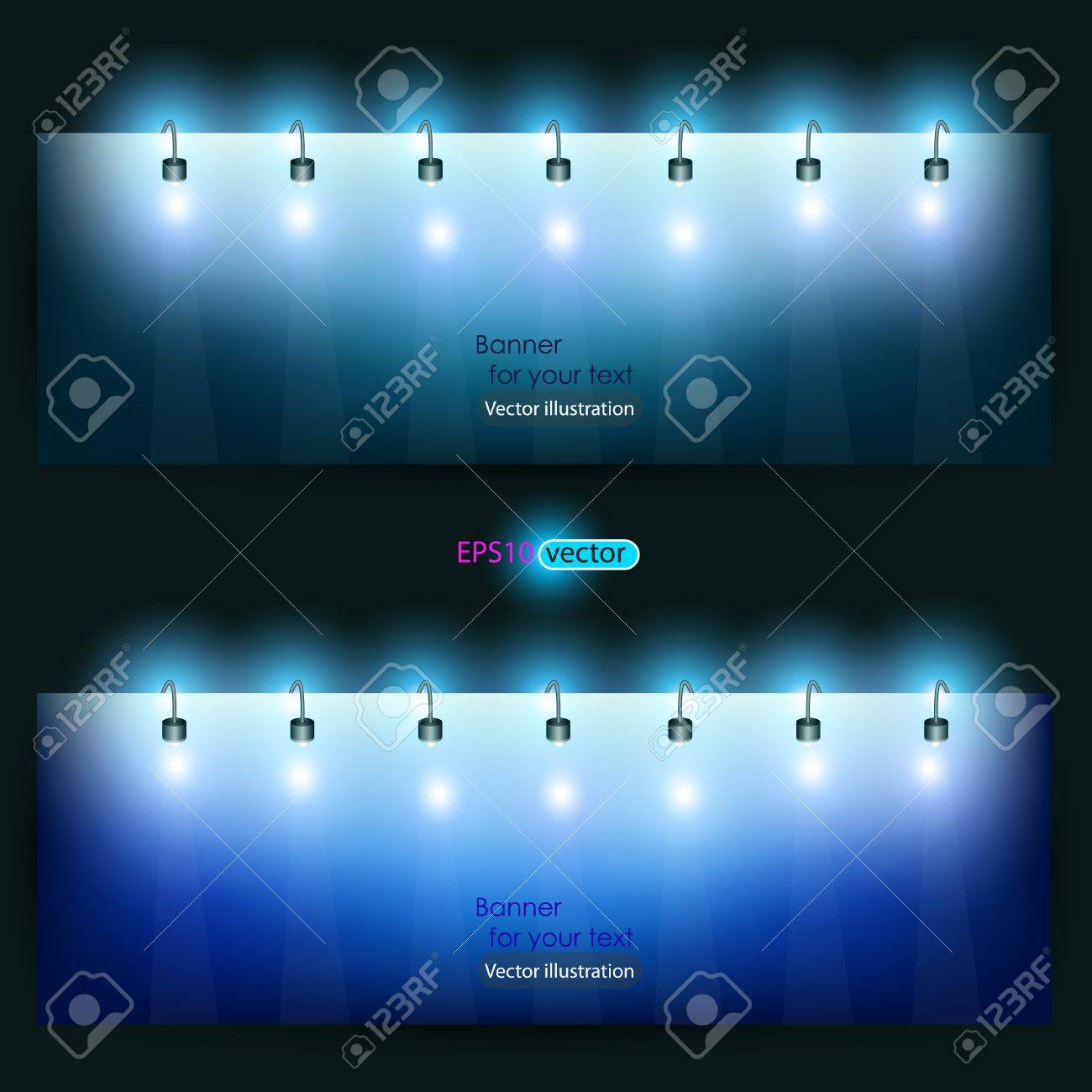 Empty banner  for product advertising with lighting Stock Vector - 11094737