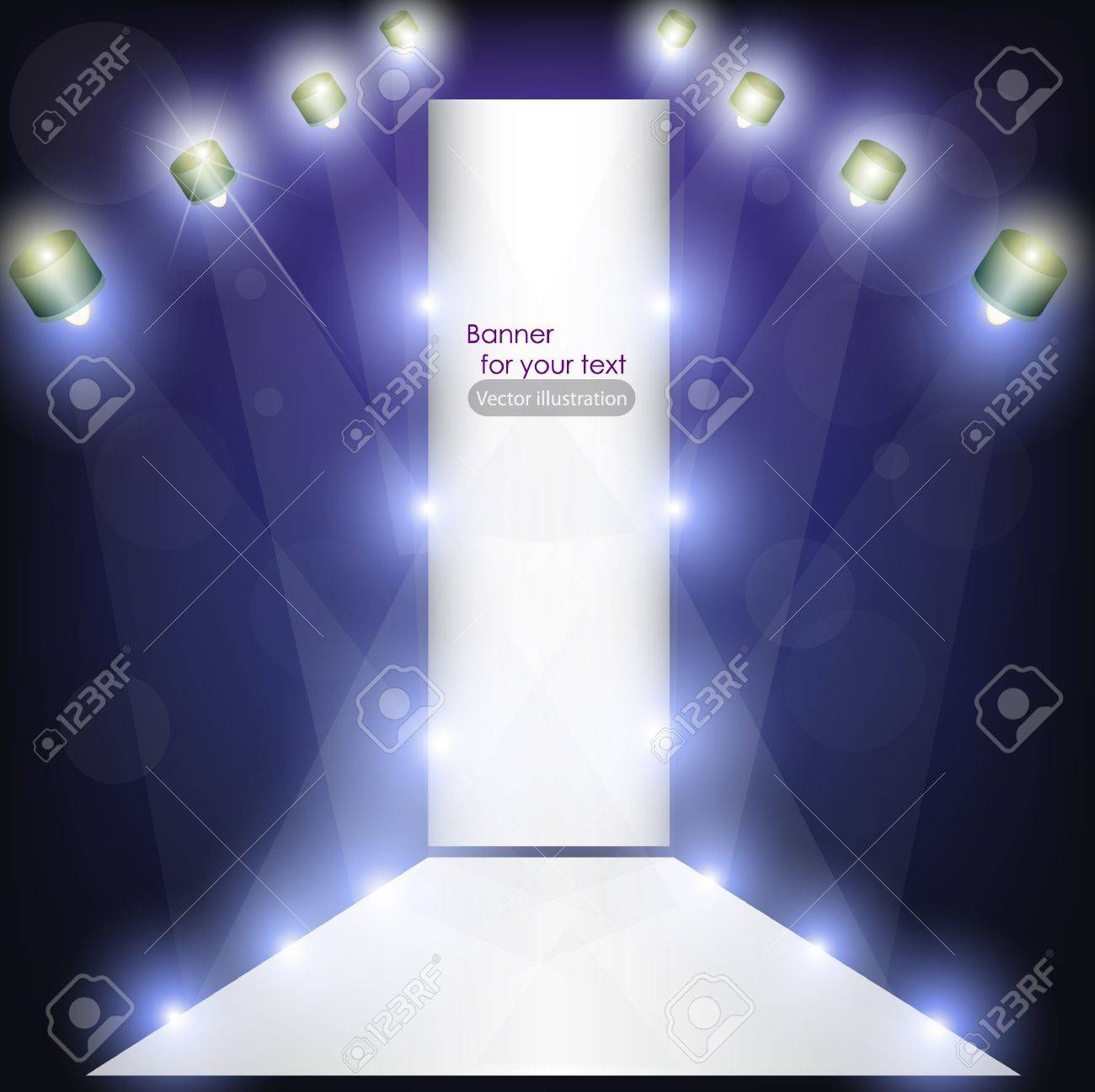 Empty podium for product advertising with lighting Stock Vector - 11094744