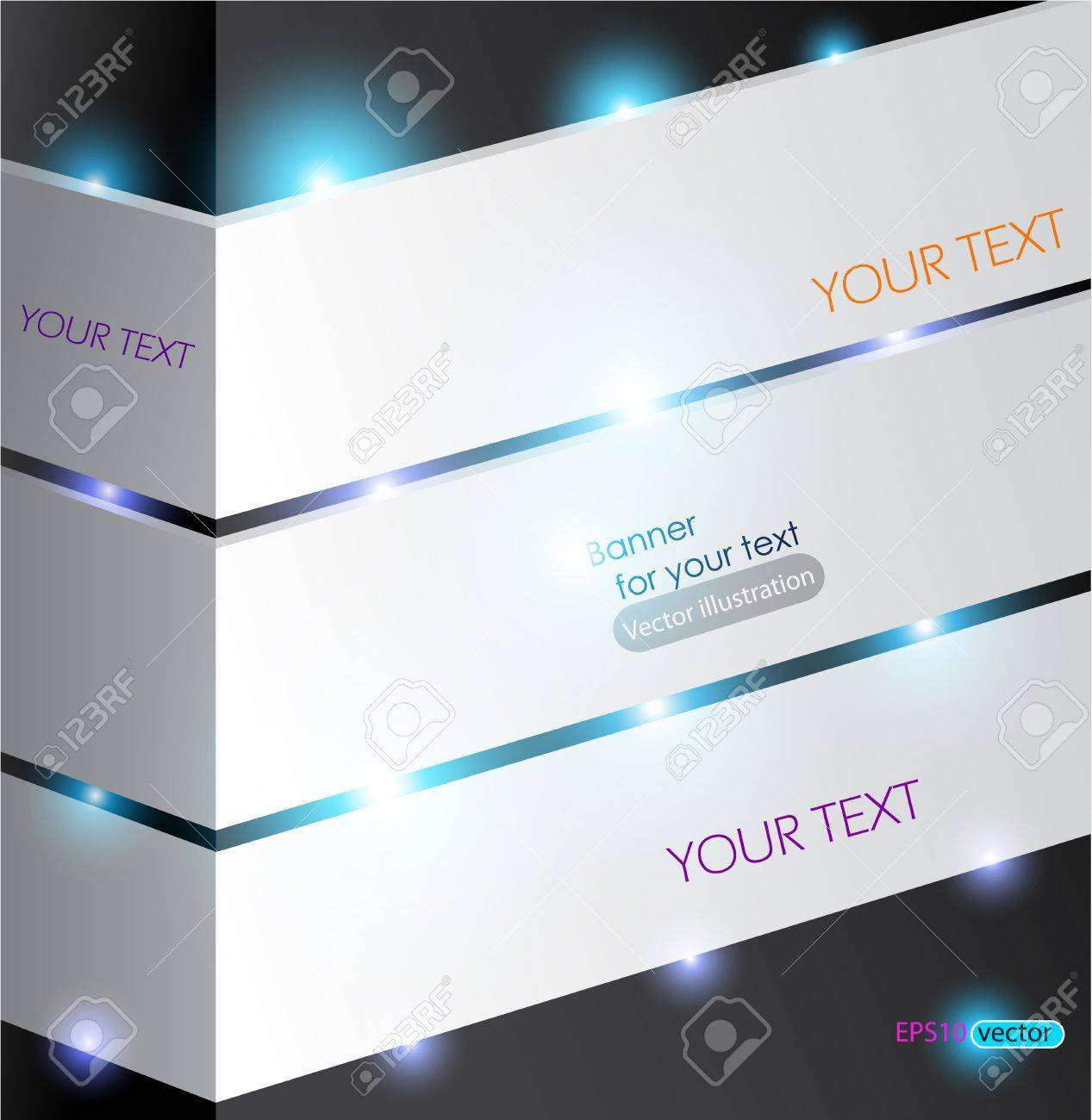 White abstract panel for text with lighting Stock Vector - 11094742