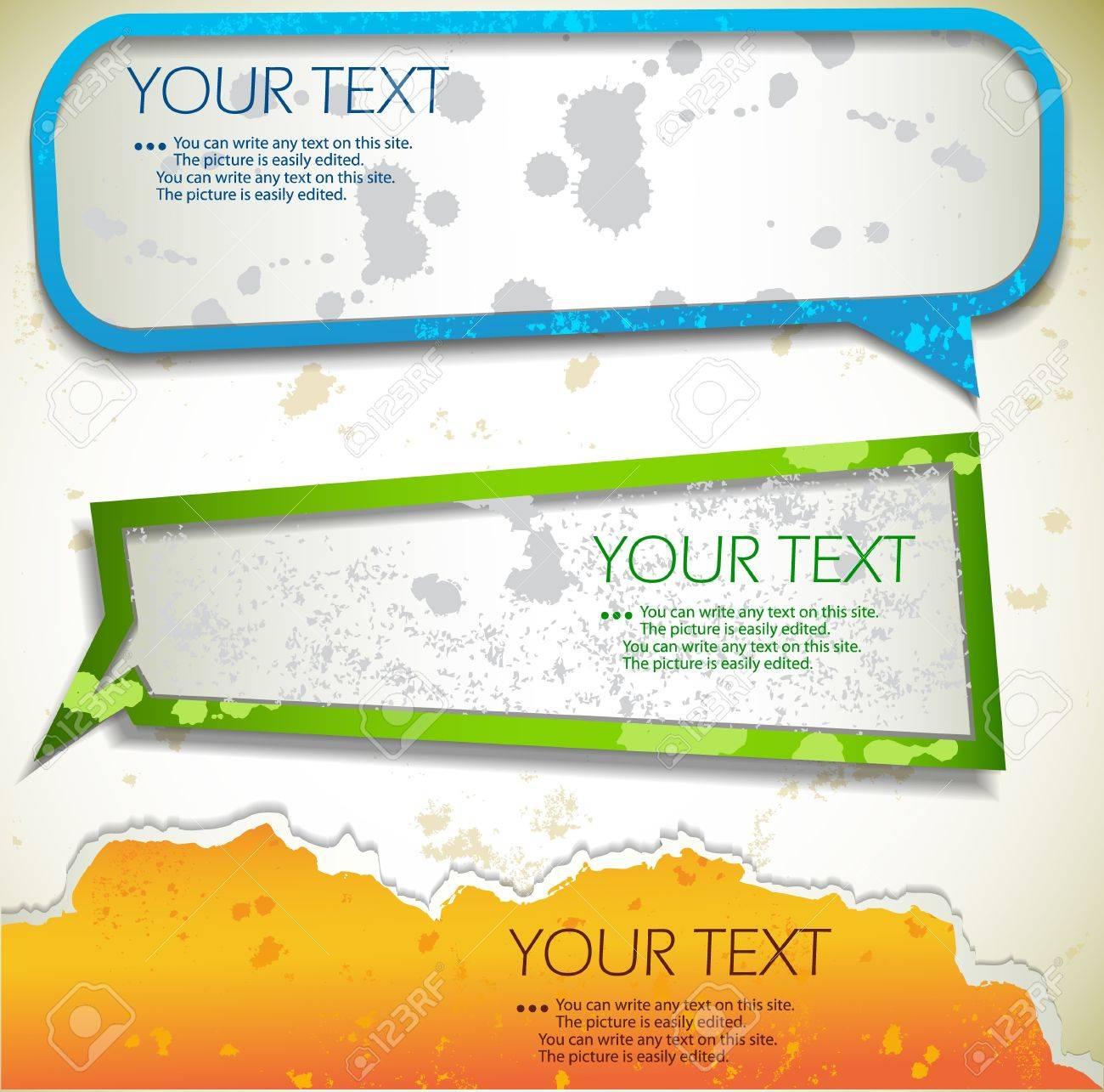 Colorful bubbles for speech - 11094747