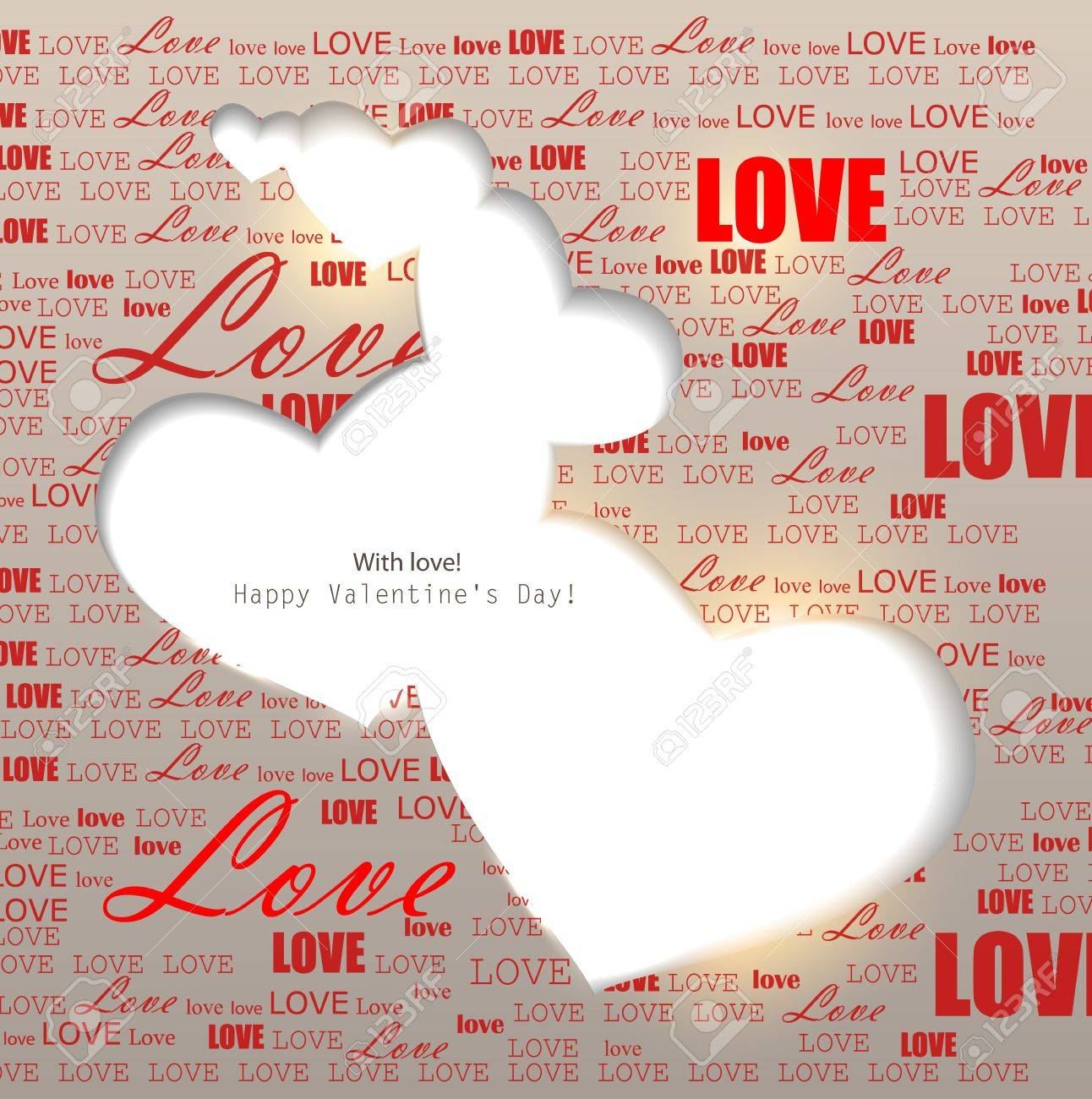 Gift card. Valentine Stock Vector - 11986220