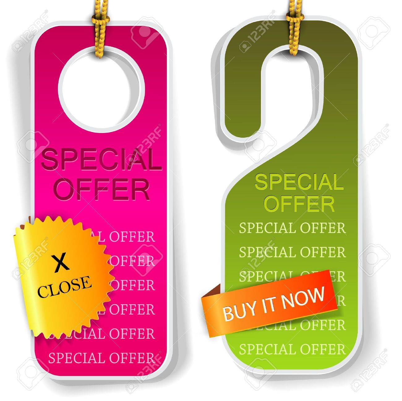 vector labels and bookmarks special offer royalty cliparts vector vector labels and bookmarks special offer