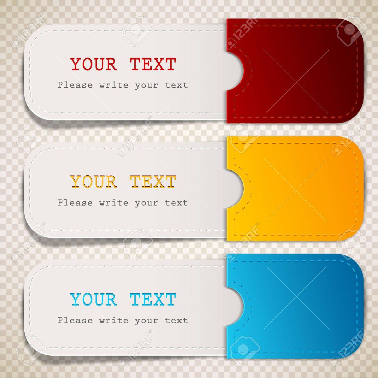 Colorful bookmarks with place for text Standard-Bild - 14960315
