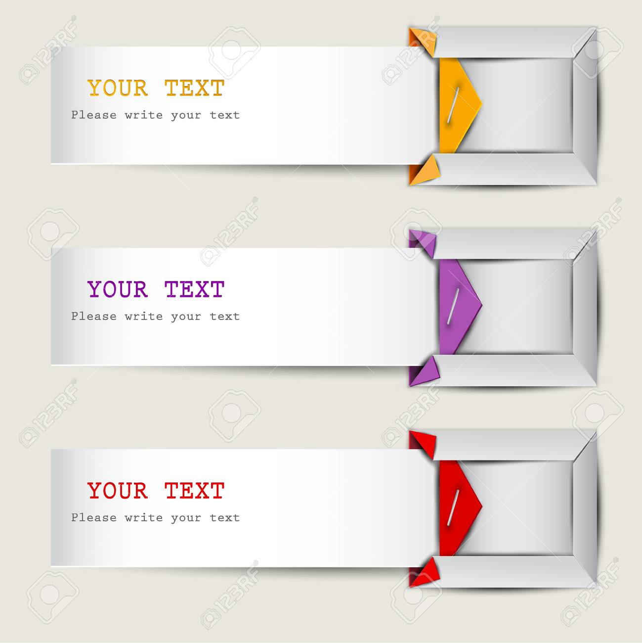 Colorful bookmarks with place for text Stock Vector - 14988366