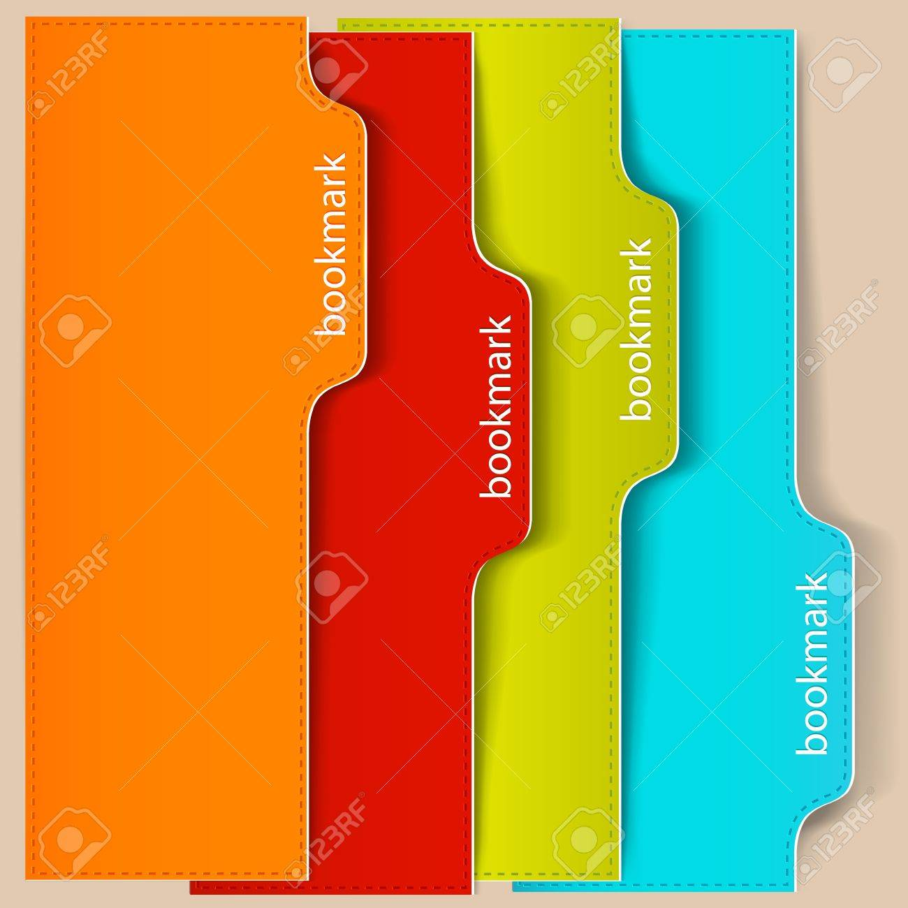 Colorful bookmarks and banners with place for text Stock Vector - 15554736